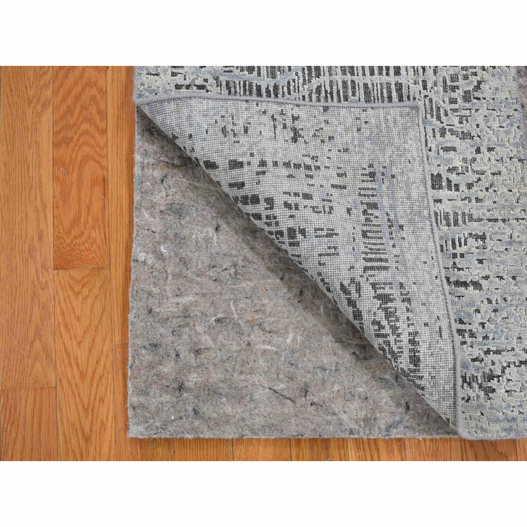 2'x3' THE LOST BRANCHES, Sampler Silk With Textured Wool Hand Knotted Oriental Rug