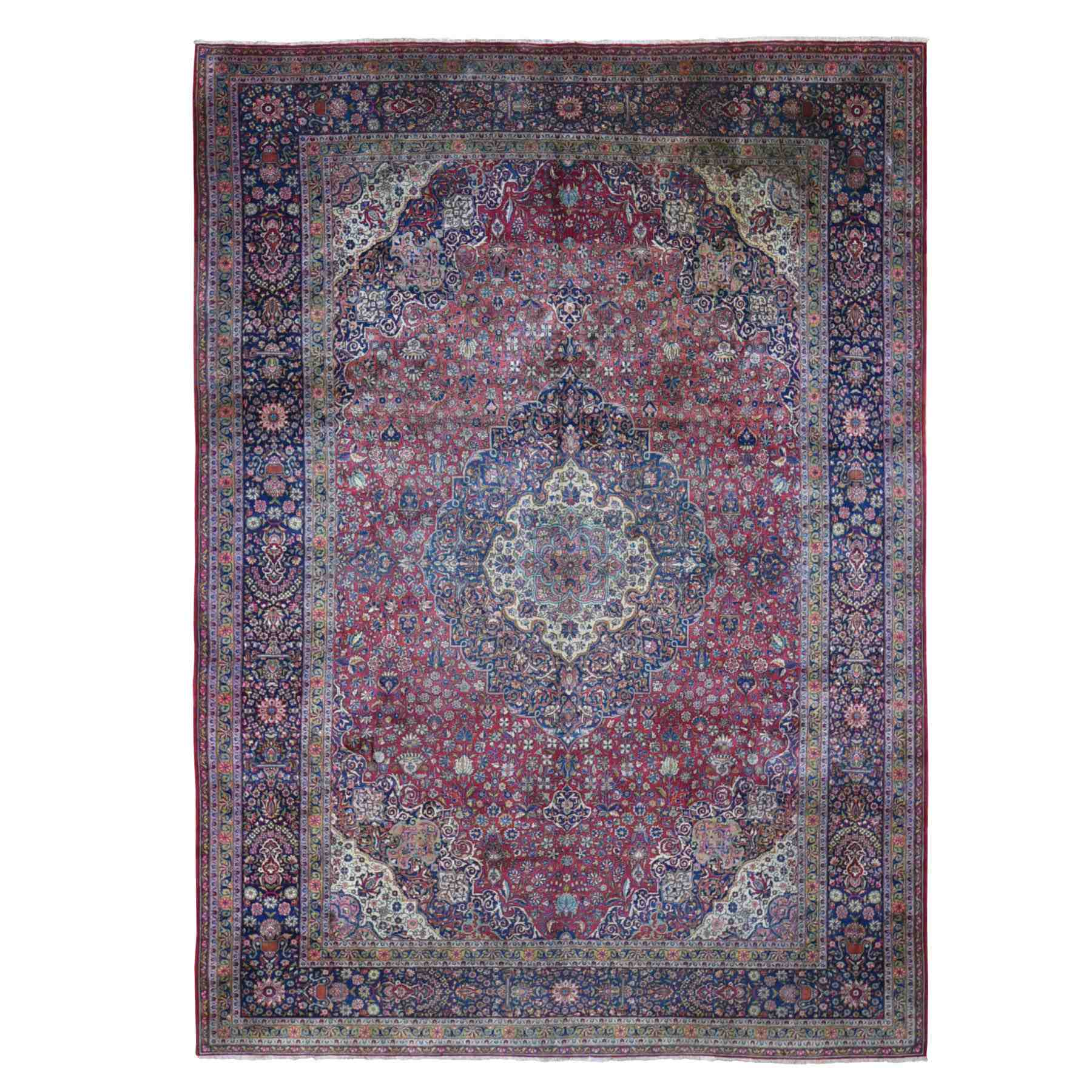 "8'7""X12' Antique Persian Kashan, Full Pile, Clean, Soft ,Abrush, Hand Knotted Oriental Rug moae9b90"