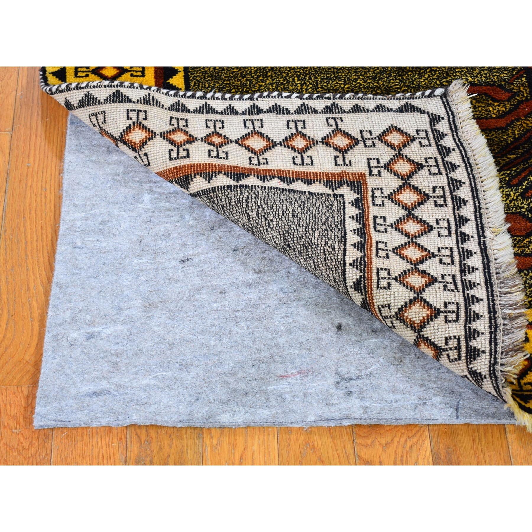 """4'6""""x8'3"""" Open Field Interesting Medallion Design Persian Gabbeh Pure Wool Hand Knotted Oriental Rug"""