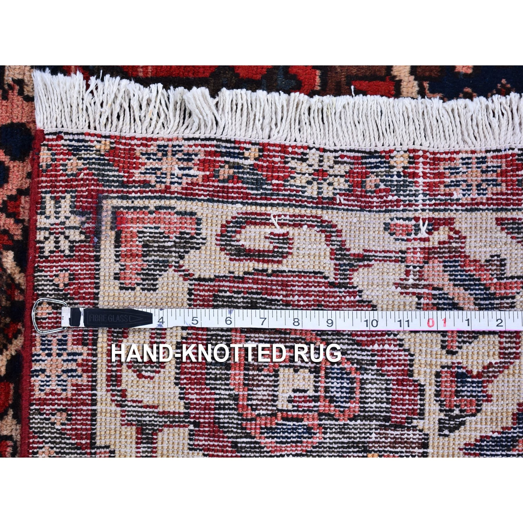 """7'x10'4"""" Red Vintage Persian Bakhtiar Good Condition Abrash Pure Wool Hand Knotted Oriental Rug"""