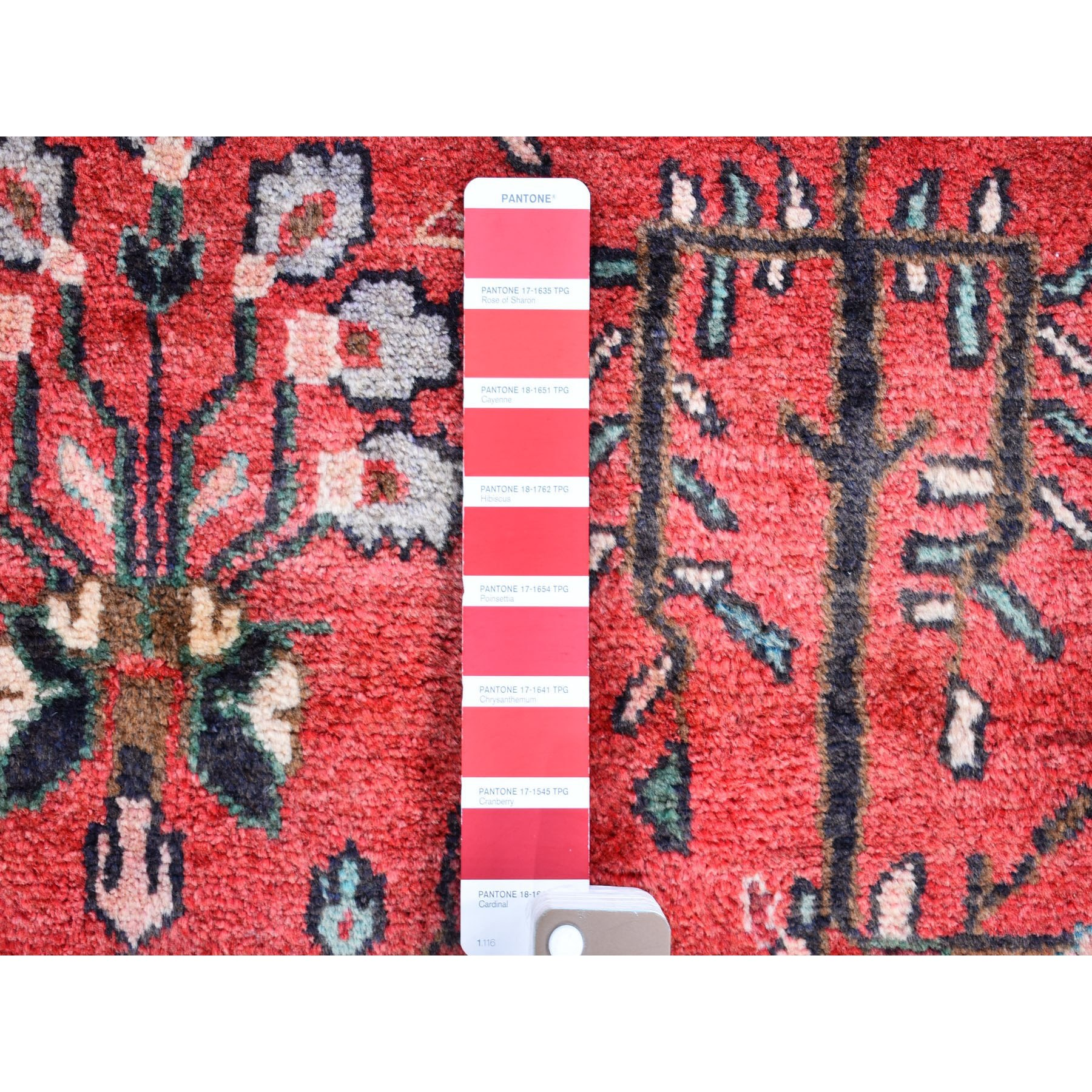 """3'7""""x10' Red New Persian Lilihan Wide Runner Organic Wool Hand Knotted Oriental Rug"""