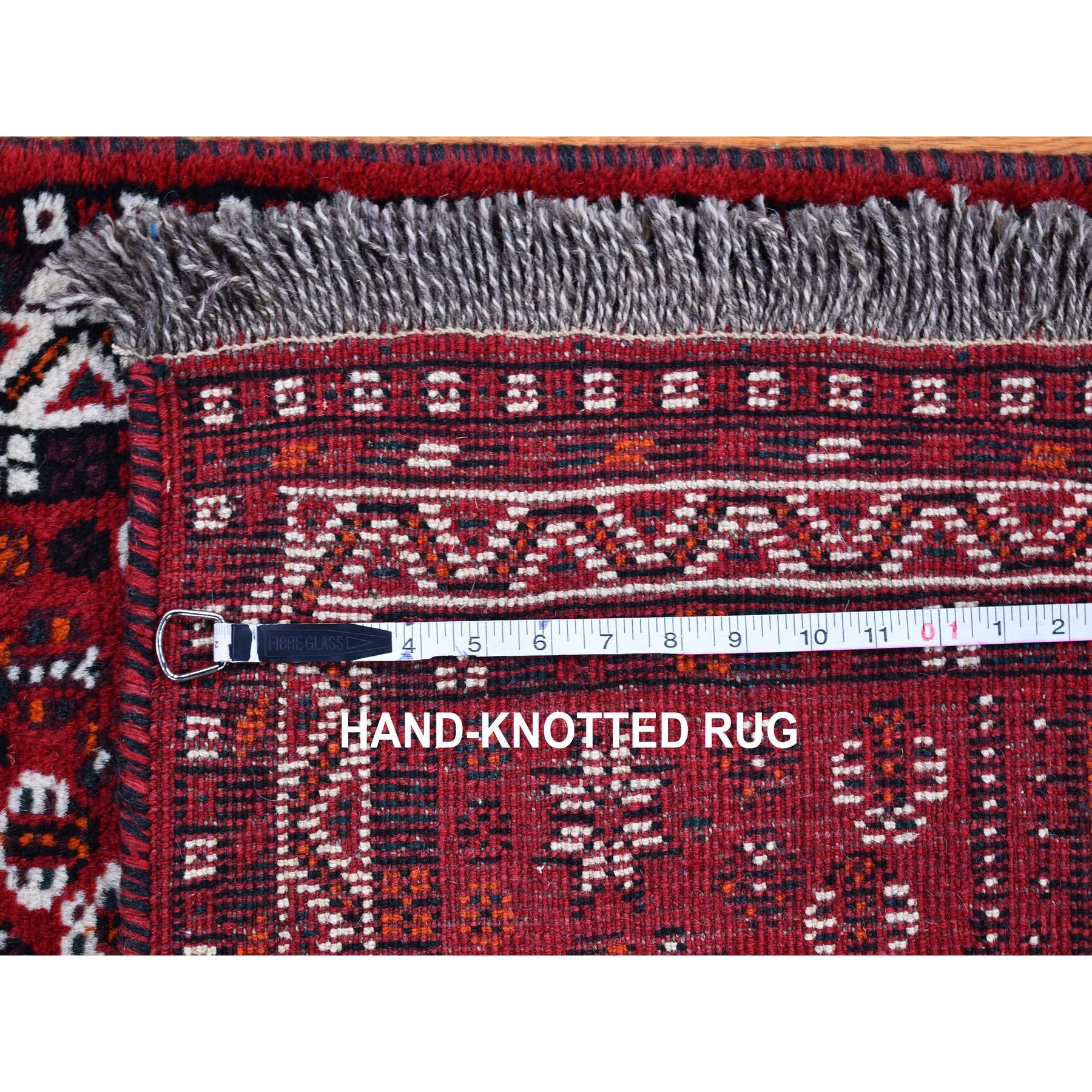 """2'8""""x9'9"""" Red New Persian Shiraz Serrated Medallions Design Pure Wool Hand Knotted Runner Oriental Rug"""