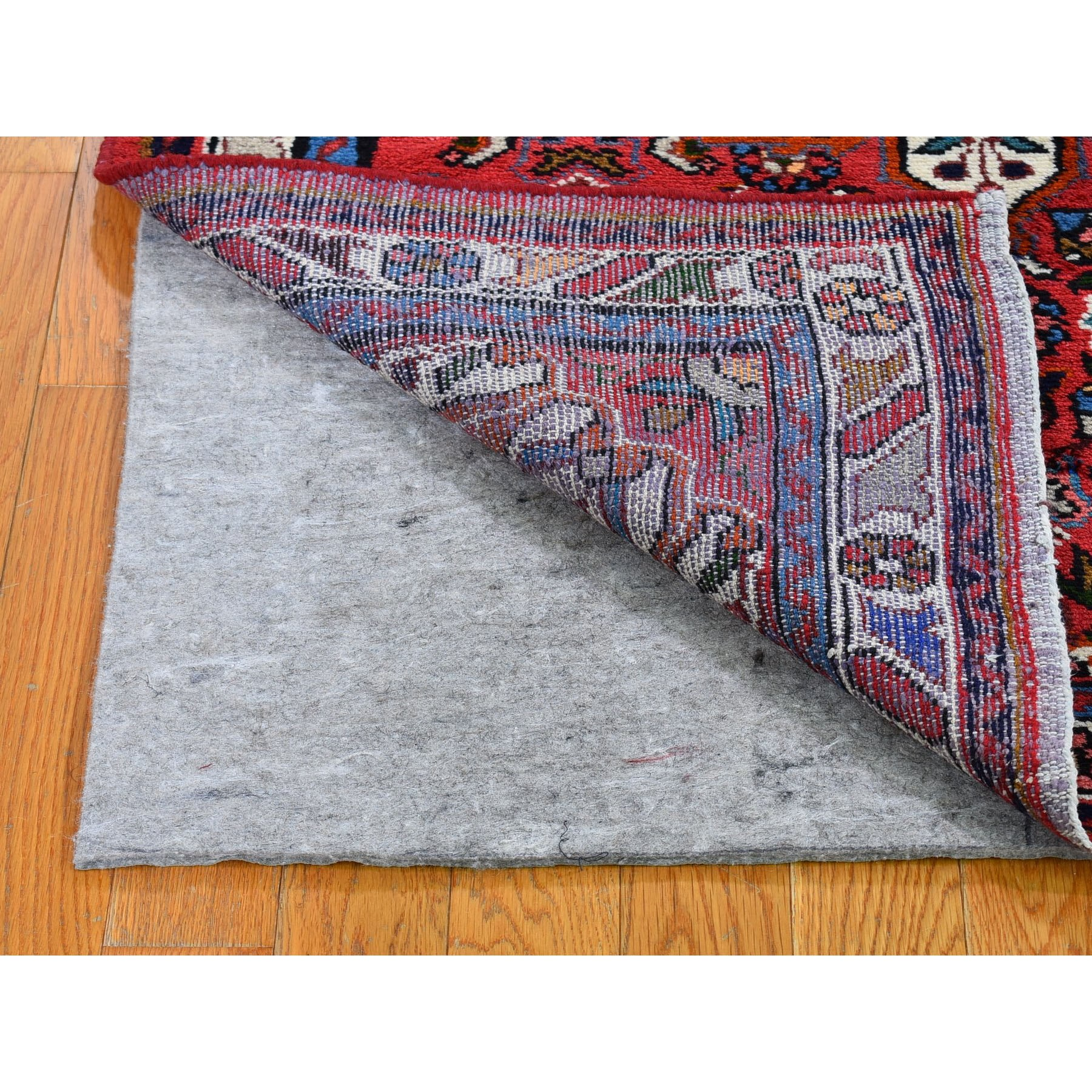 """3'5""""x5'1"""" New Persian Hamadan Flower Design Pure Wool Hand Knotted Oriental Rug"""