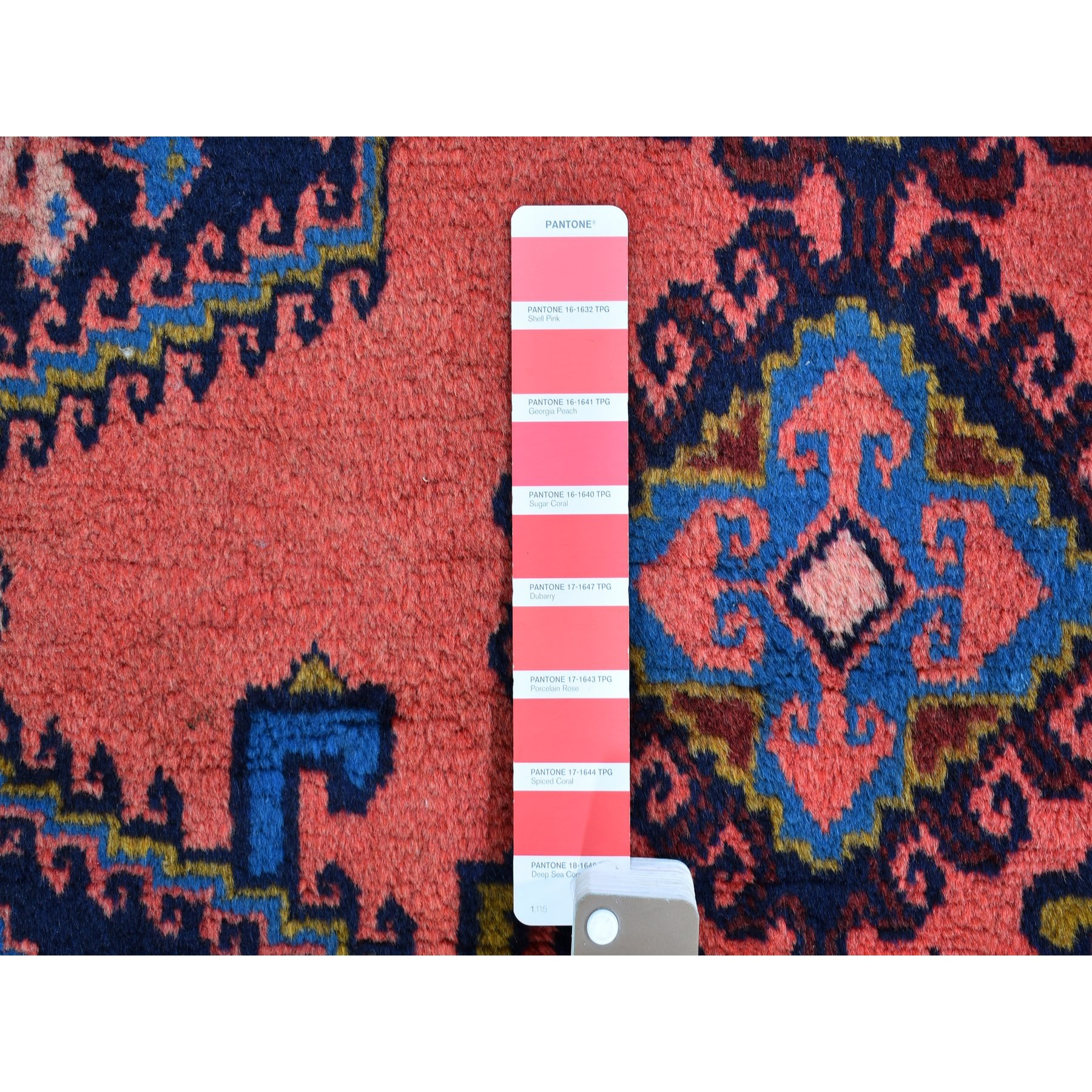 "3'4""x5'1"" Pink Natural Wool Excellent Condition Full Pile Vintage Persian Viss Hand Knotted Oriental Rug"