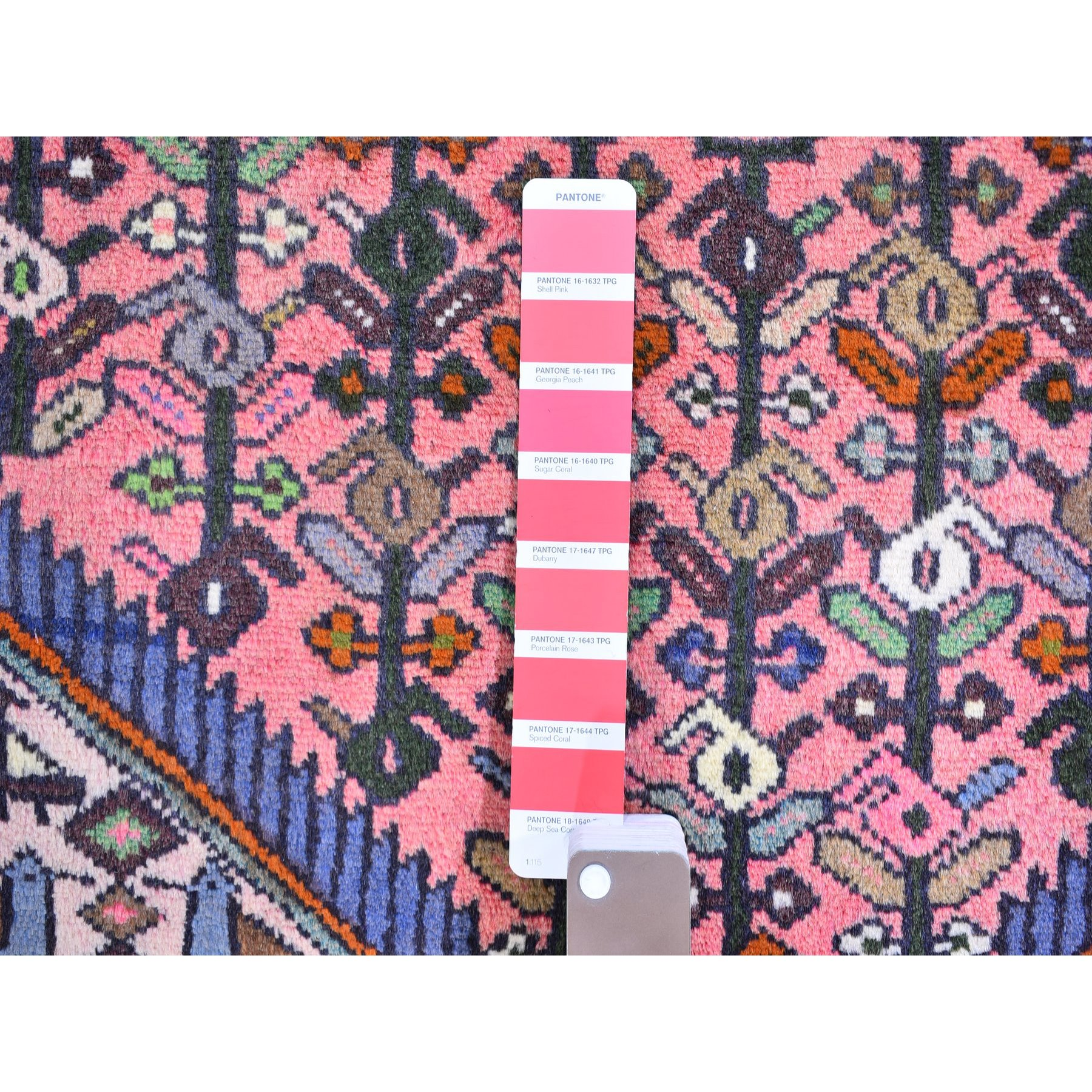 """3'3""""x5' Vintage Persian Malayer Rose Pure Wool Geometric Design Hand Knotted Oriental Rug"""