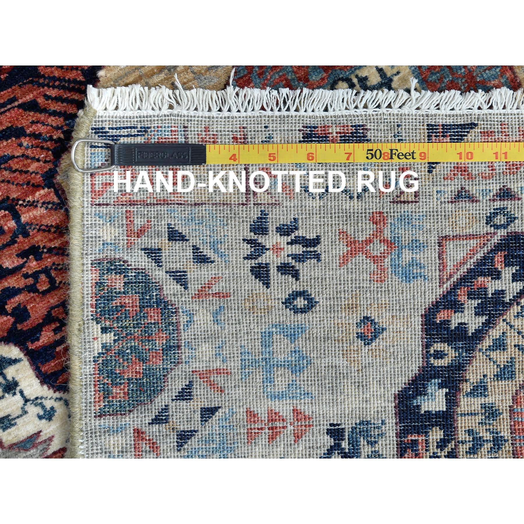 "2'5""x9'7"" Gray Super Fine Peshawar Mamluk Design With Denser Weave Shiny Wool Even Pile Hand Knotted Runner Oriental Rug"