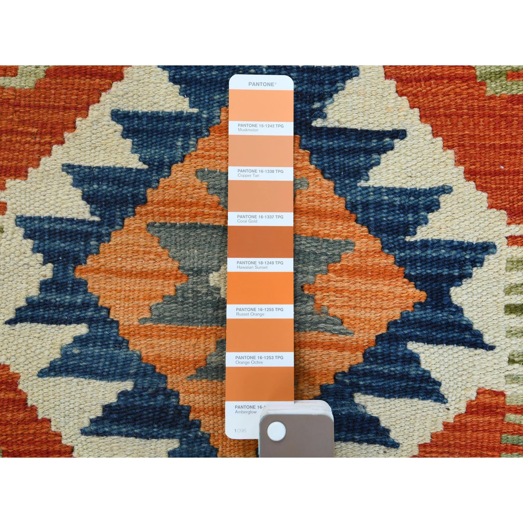 2'x3' Orange Afghan Kilim In A Colorful Palette Vibrant Wool Hand Woven Reversible Runner Oriental Rug