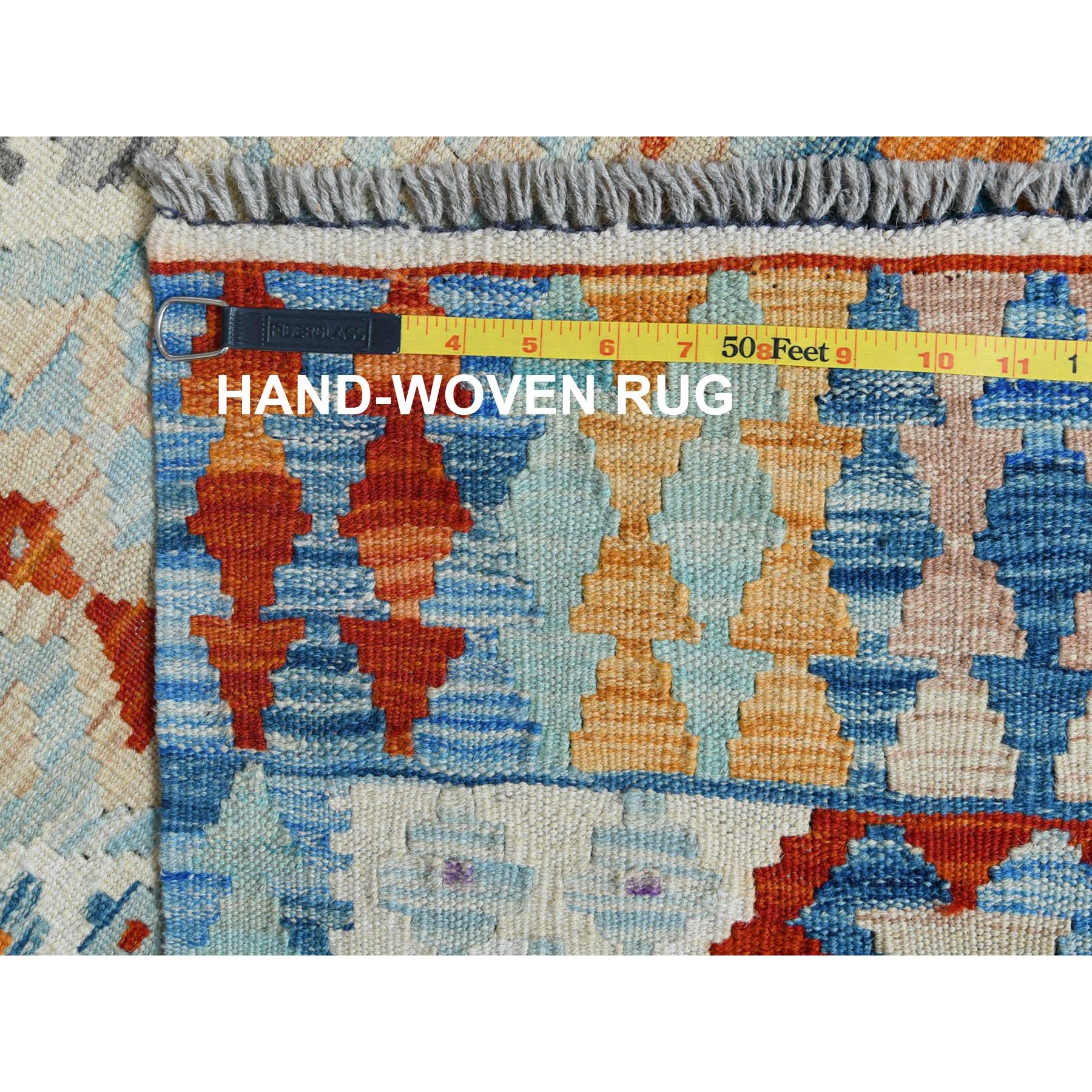 "2'9""x4'1"" Hand Woven Afghan Kilim Colorful Reversible Pure Wool Oriental Rug"