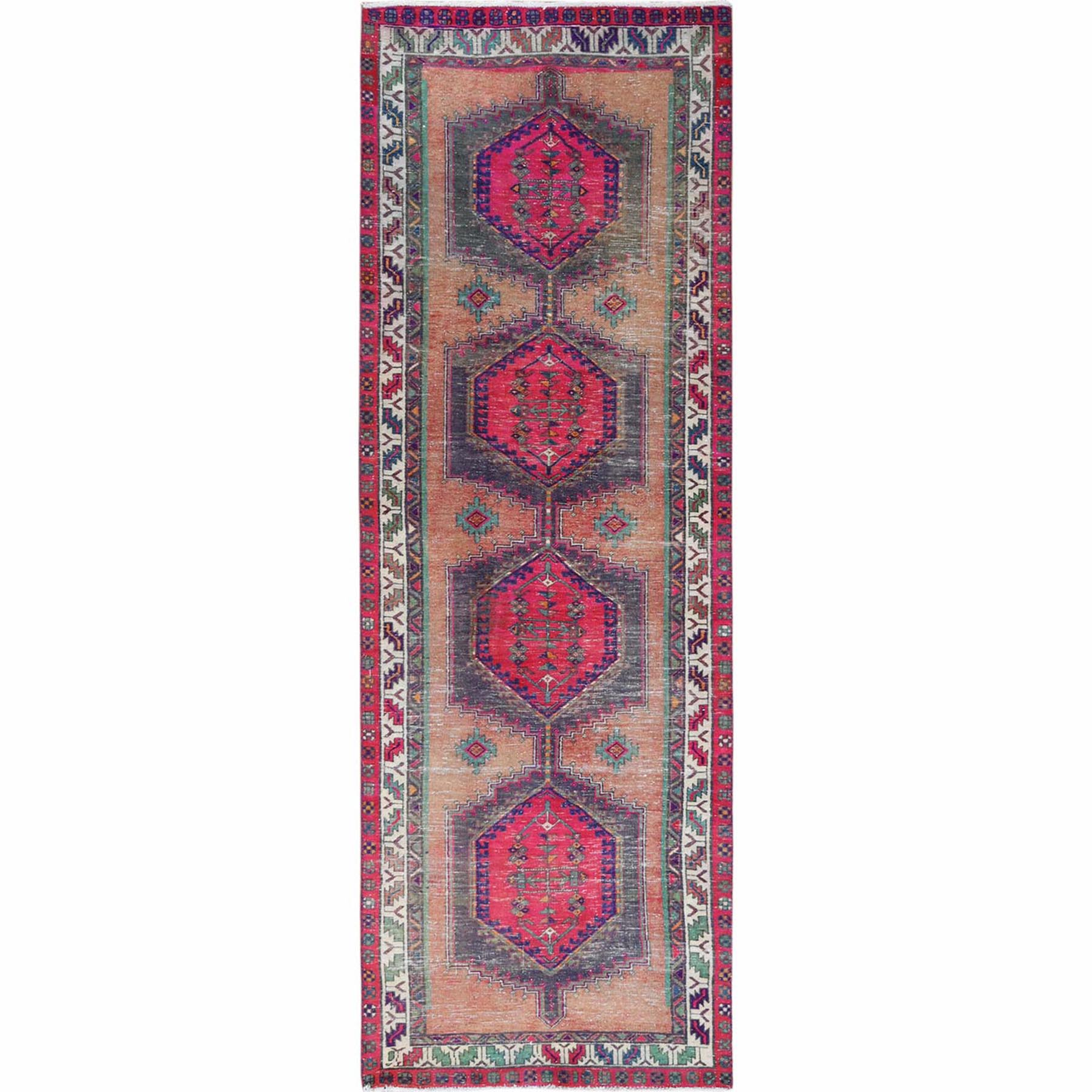 Fetneh Collection And Vintage Overdyed Collection Hand Knotted Pink Rug No: 1121952