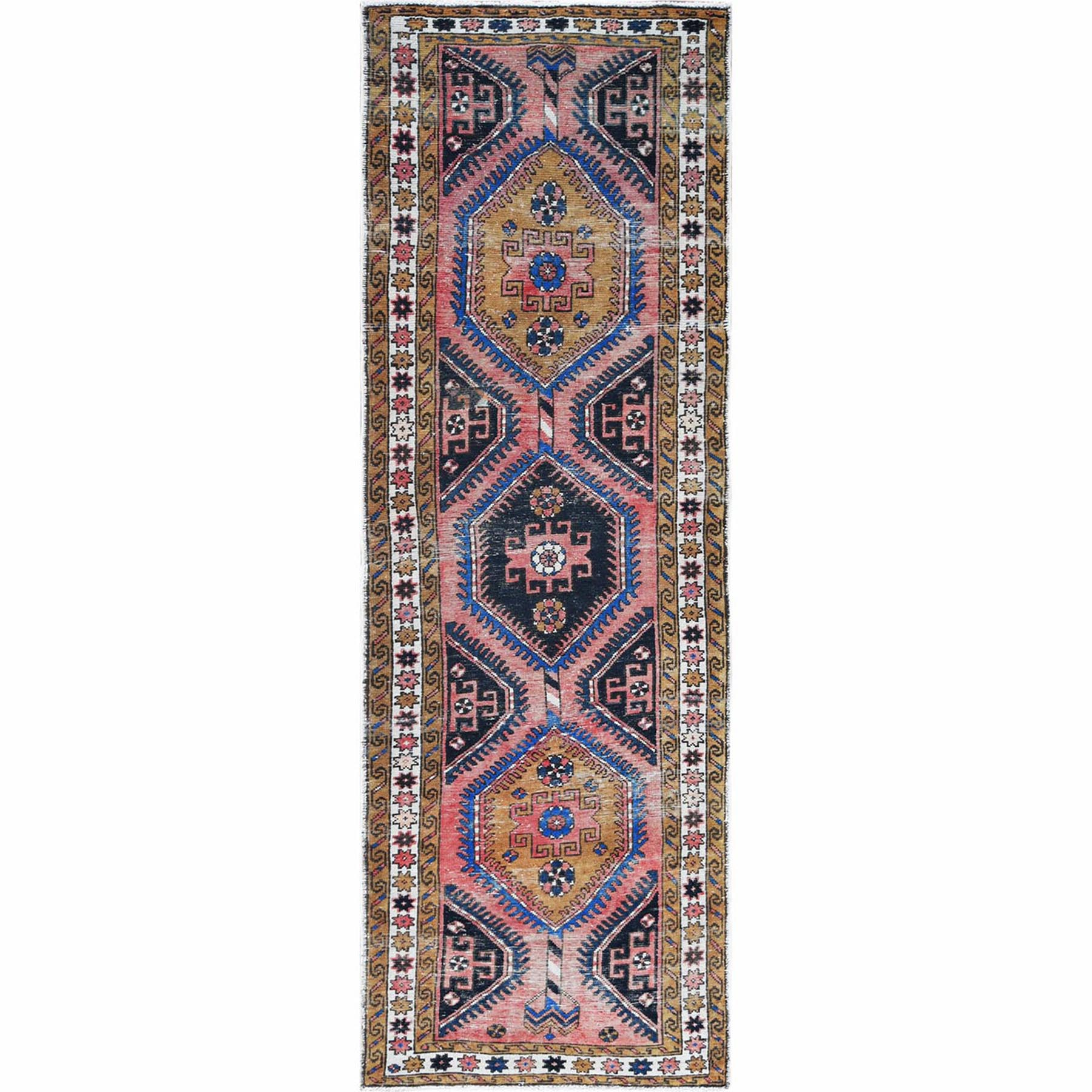 Fetneh Collection And Vintage Overdyed Collection Hand Knotted Pink Rug No: 1121986