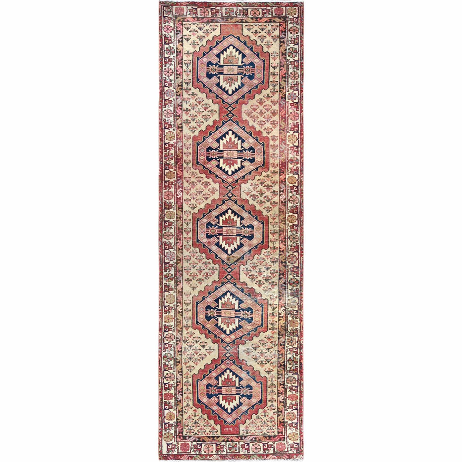 Fetneh Collection And Vintage Overdyed Collection Hand Knotted Red Rug No: 1121990