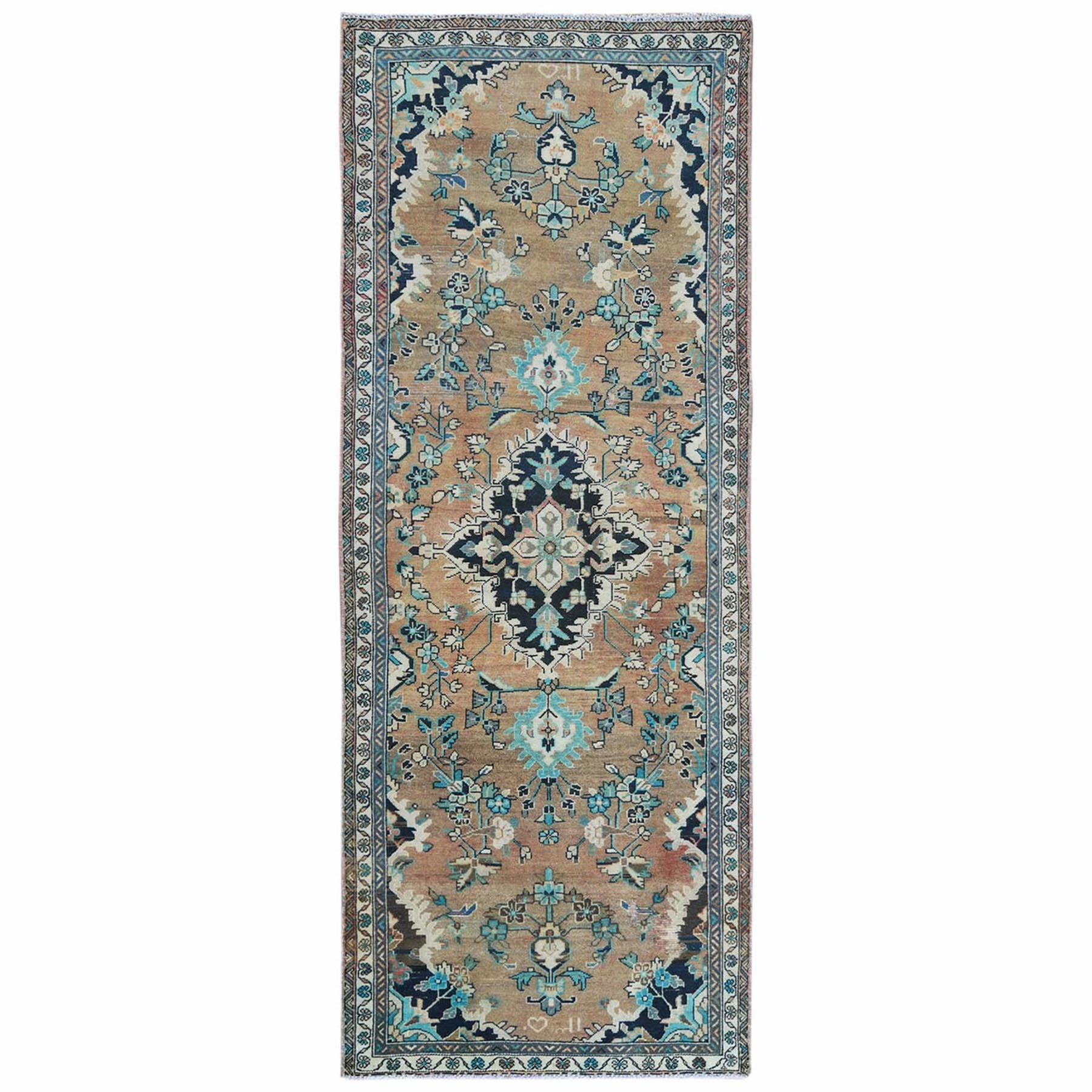 Fetneh Collection And Vintage Overdyed Collection Hand Knotted Orange Rug No: 1122006