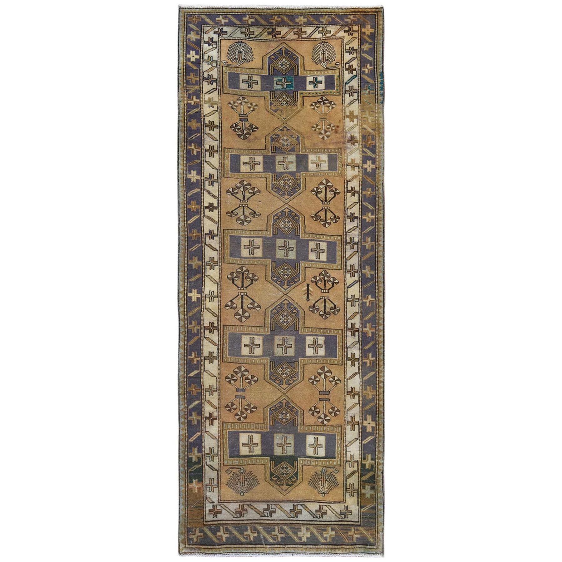 Fetneh Collection And Vintage Overdyed Collection Hand Knotted Brown Rug No: 1122062