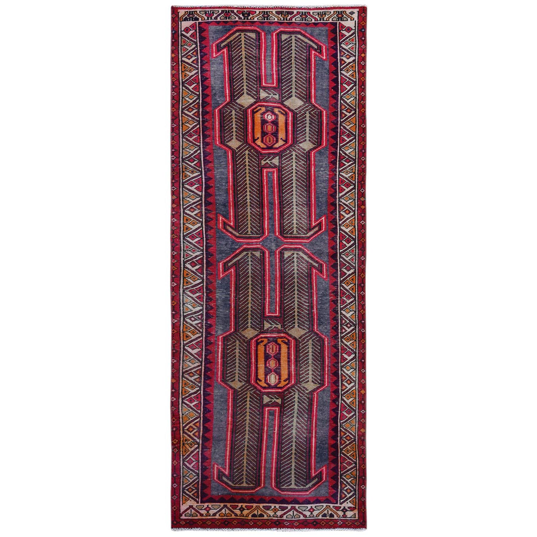 Fetneh Collection And Vintage Overdyed Collection Hand Knotted Pink Rug No: 1122080