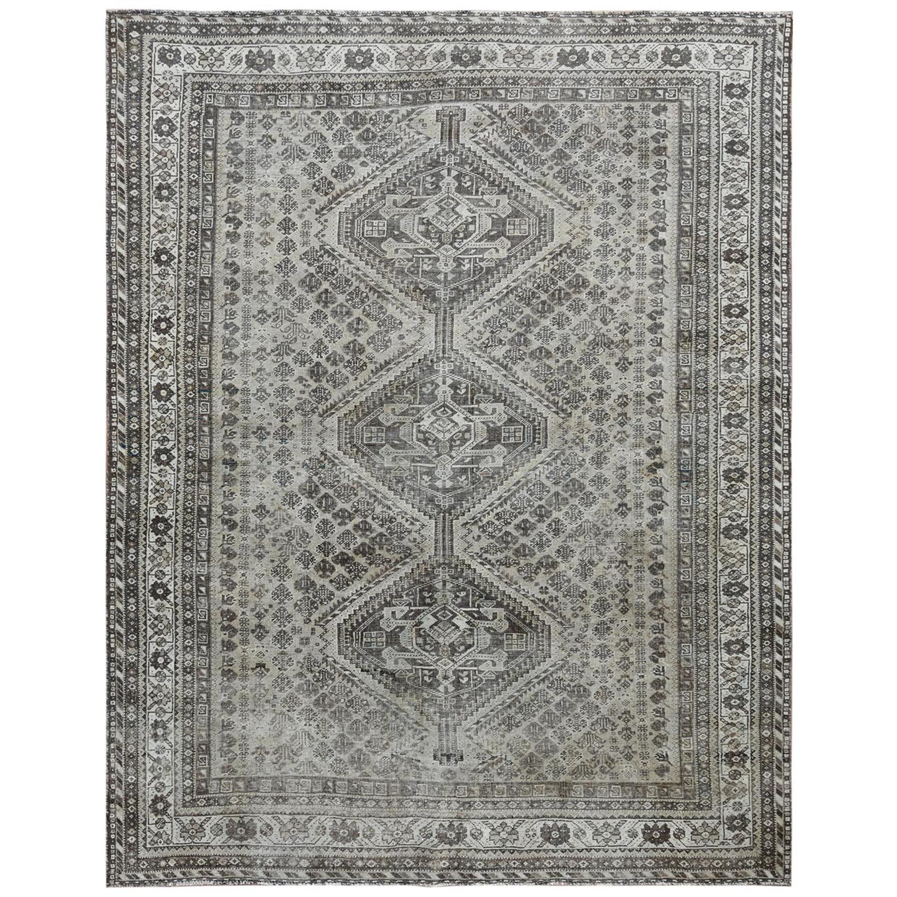 Fetneh Collection And Vintage Overdyed Collection Hand Knotted Beige Rug No: 1122128