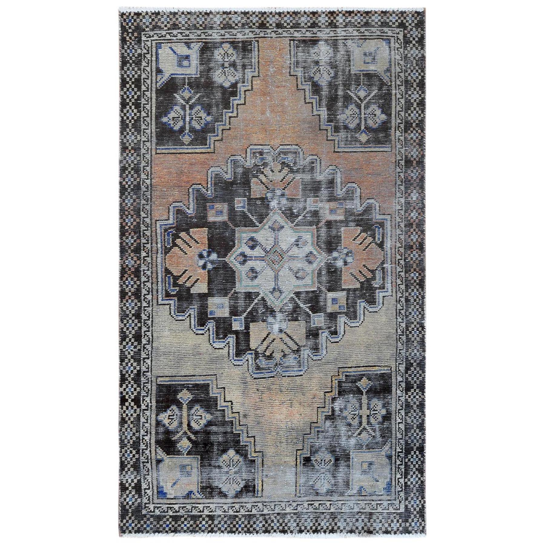 Fetneh Collection And Vintage Overdyed Collection Hand Knotted Orange Rug No: 1122148