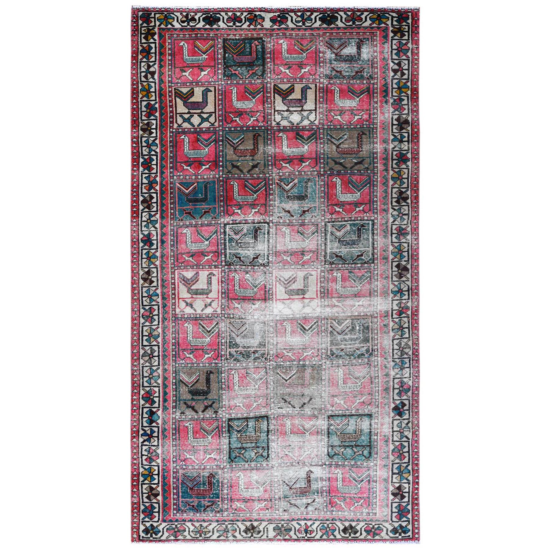 Fetneh Collection And Vintage Overdyed Collection Hand Knotted Red Rug No: 1122150