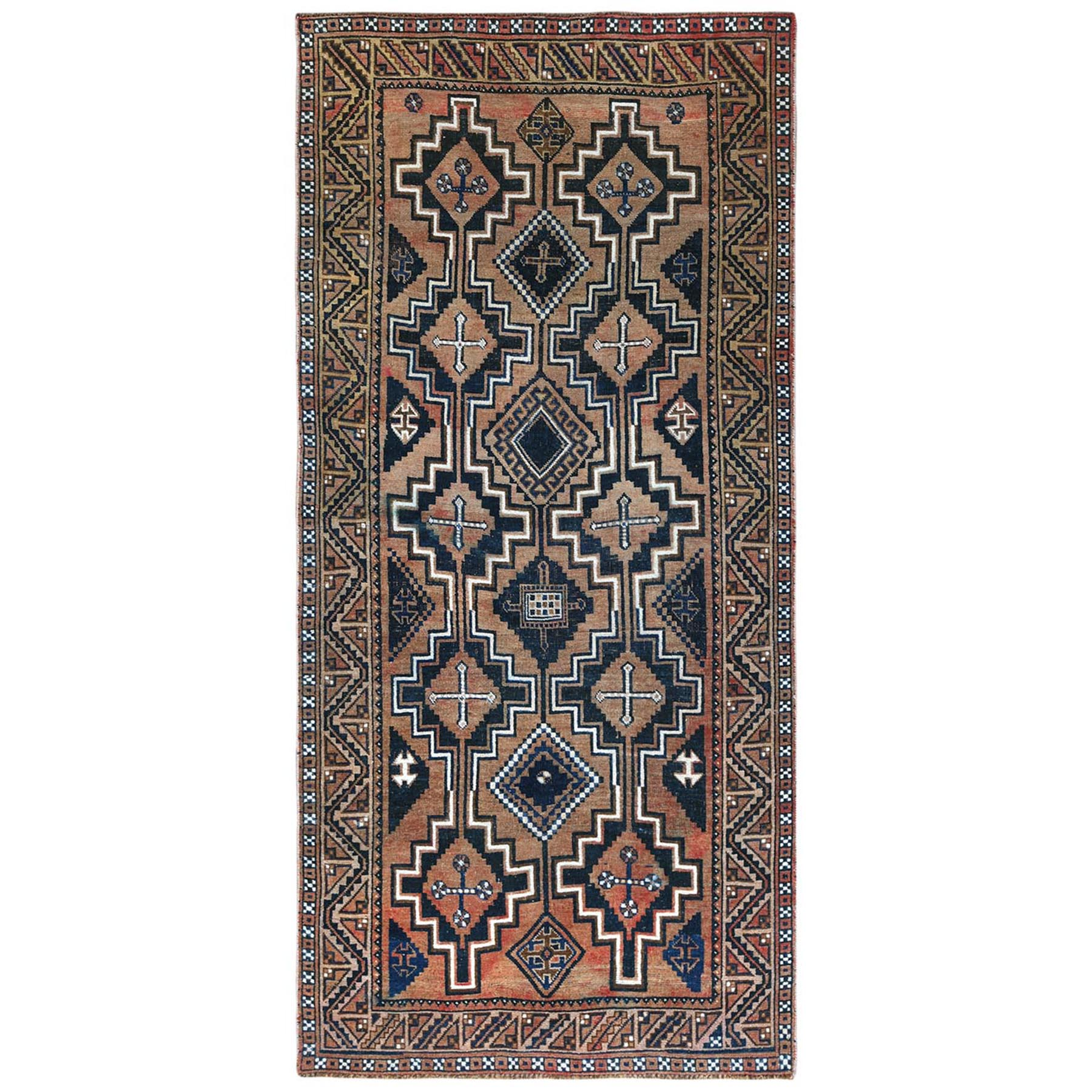 Fetneh Collection And Vintage Overdyed Collection Hand Knotted Orange Rug No: 1122198