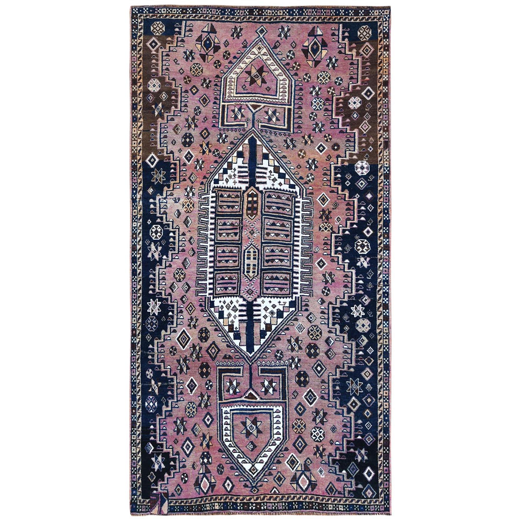 Fetneh Collection And Vintage Overdyed Collection Hand Knotted Purple Rug No: 1122204