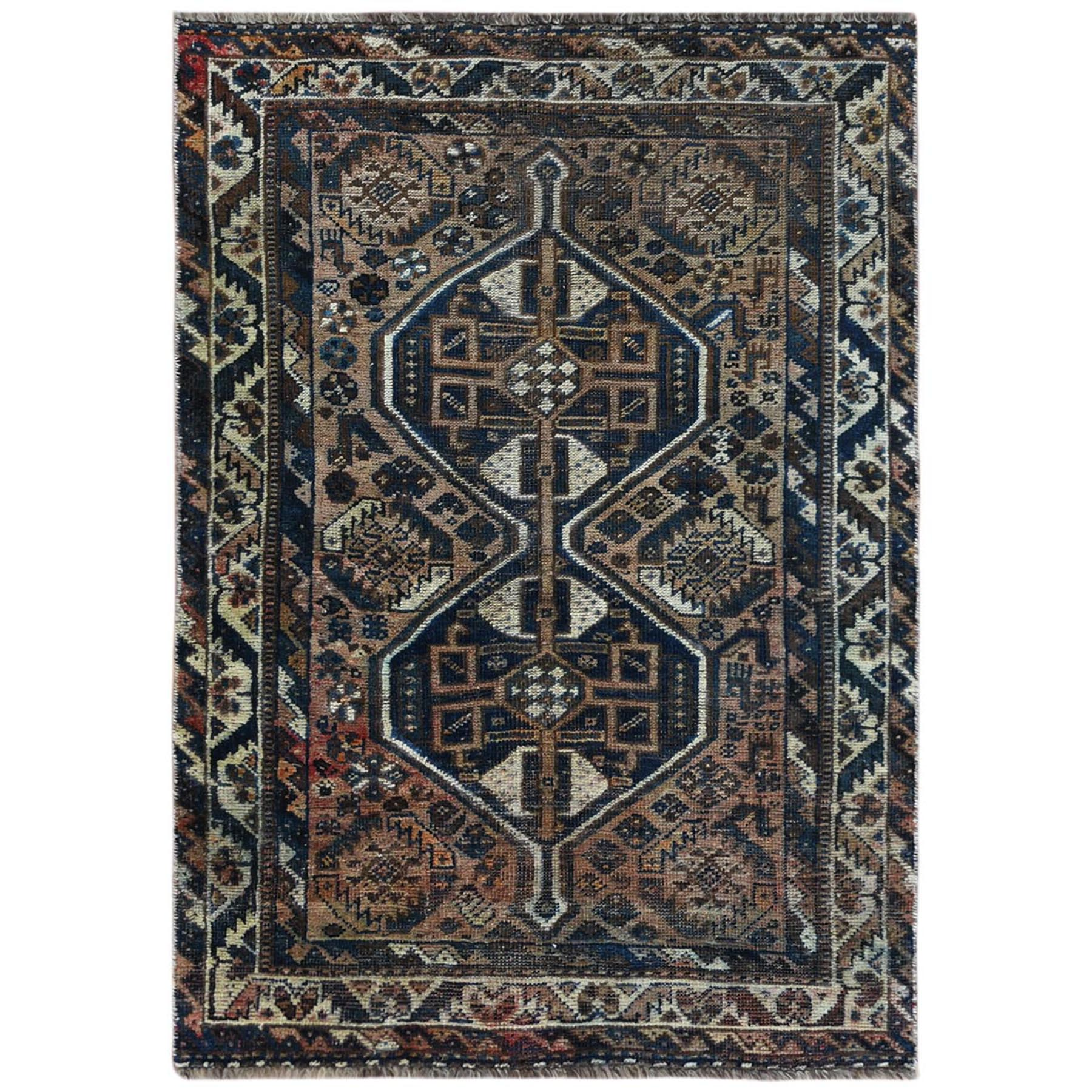 Fetneh Collection And Vintage Overdyed Collection Hand Knotted Brown Rug No: 1122220