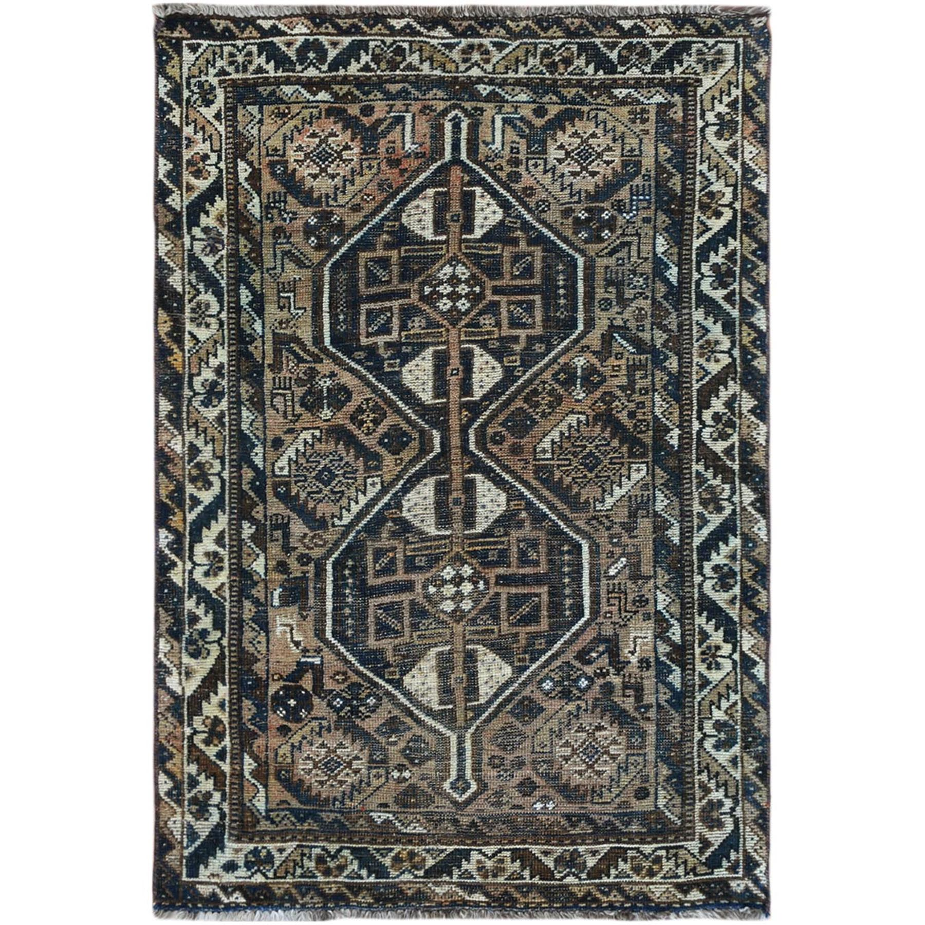 Fetneh Collection And Vintage Overdyed Collection Hand Knotted Brown Rug No: 1122222