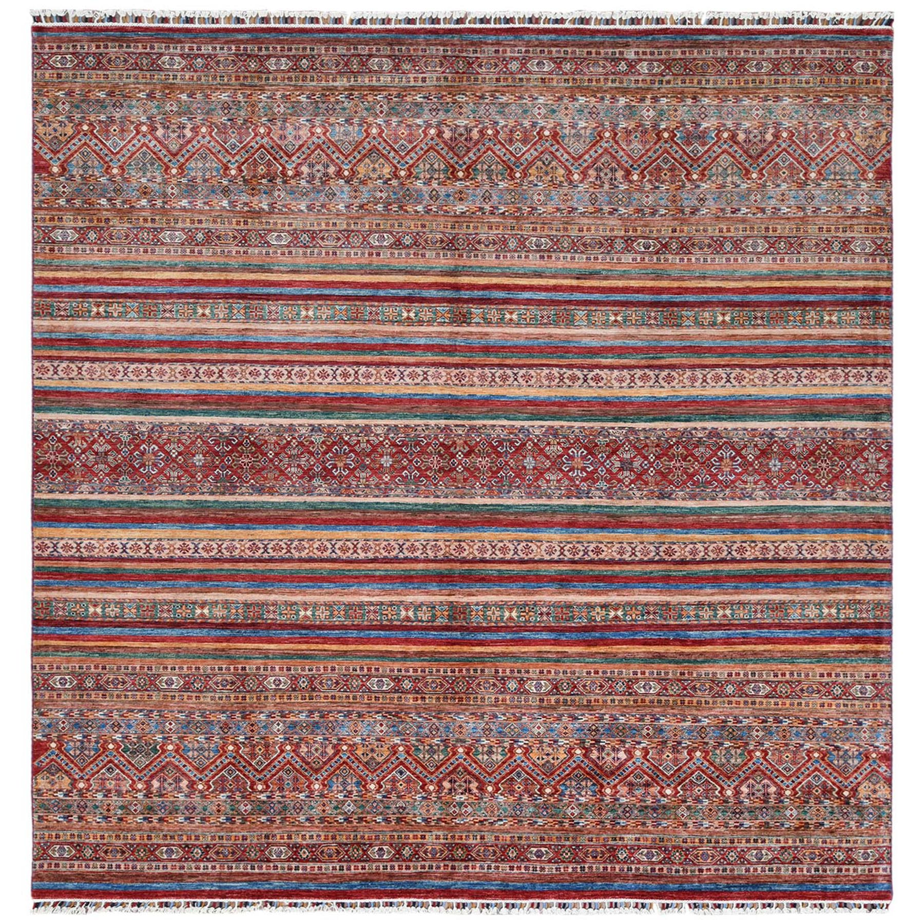 Caucasian Collection Hand Knotted Red Rug No: 1122248