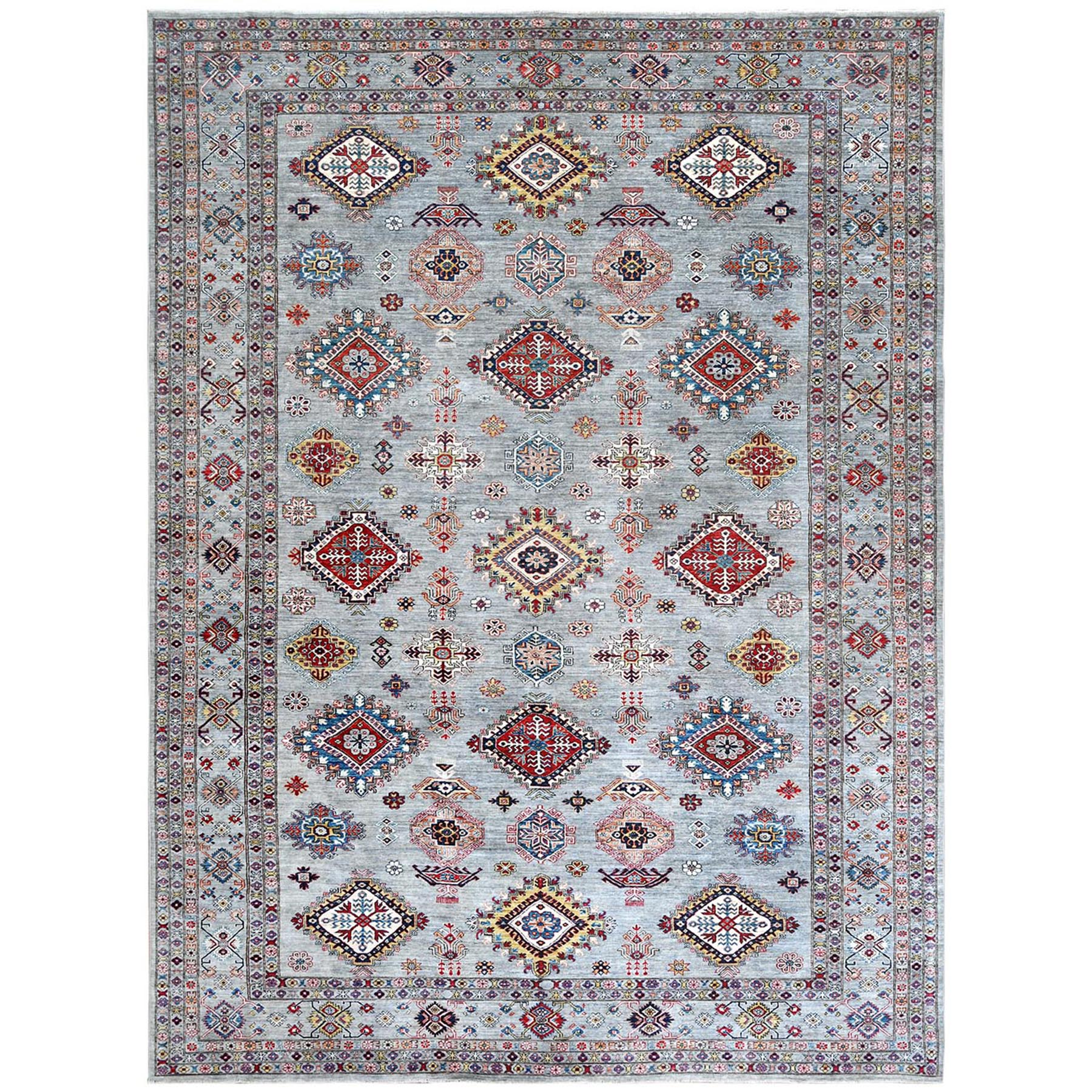 Caucasian Collection Hand Knotted Grey Rug No: 1122264