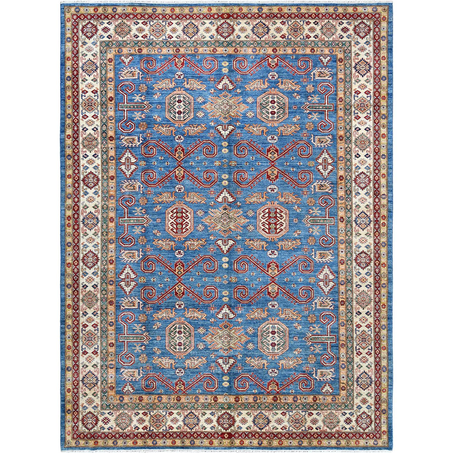 Caucasian Collection Hand Knotted Blue Rug No: 1122266