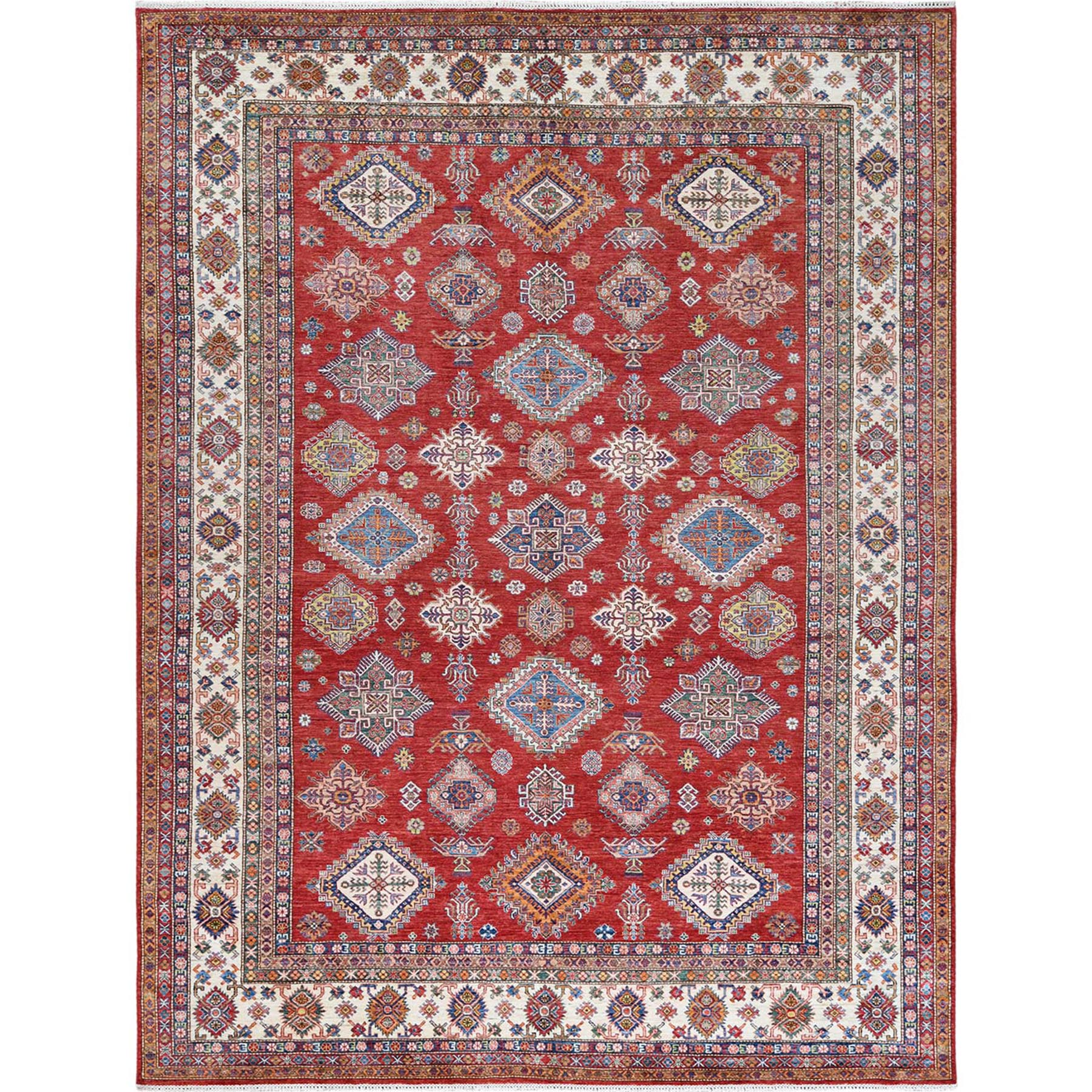 Caucasian Collection Hand Knotted Red Rug No: 1122302