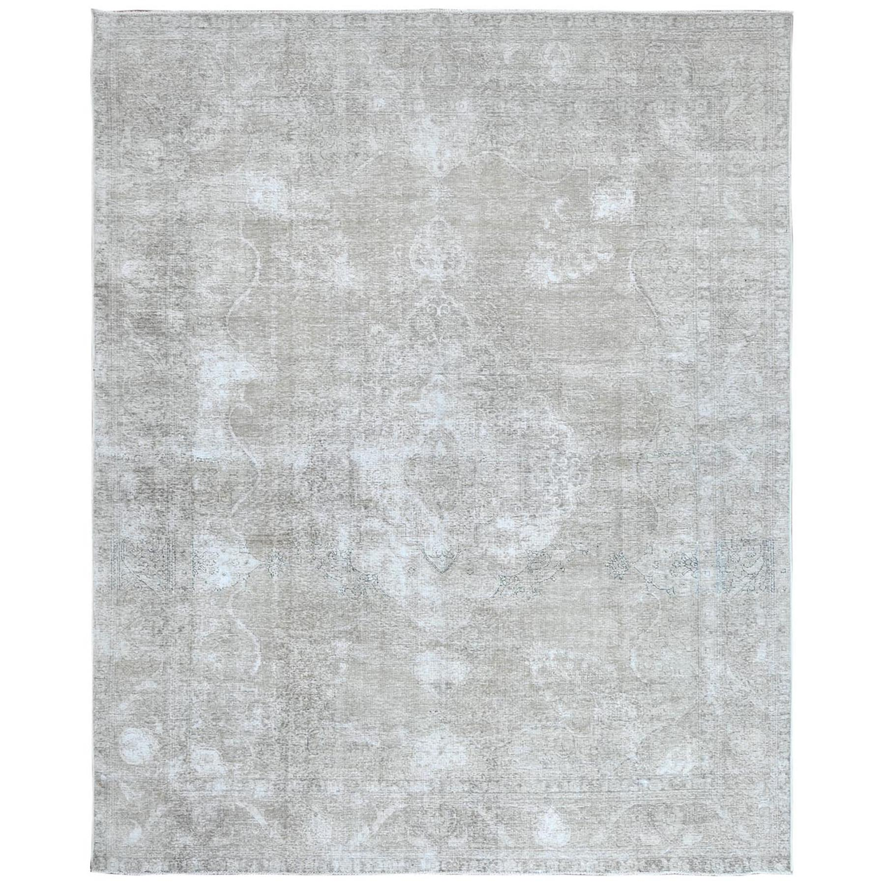 Fetneh Collection And Vintage Overdyed Collection Hand Knotted Ivory Rug No: 1122430
