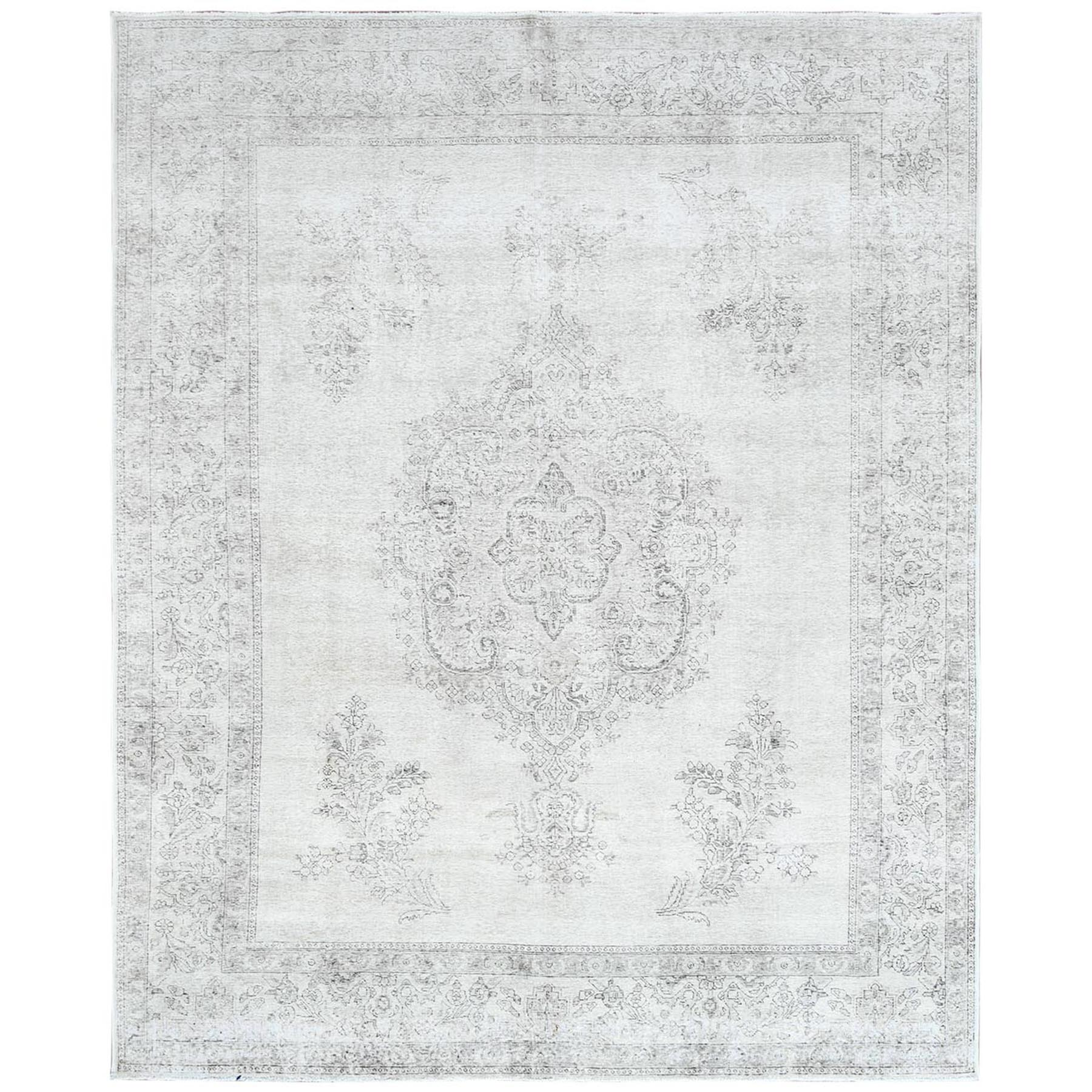 Fetneh Collection And Vintage Overdyed Collection Hand Knotted Ivory Rug No: 1122466