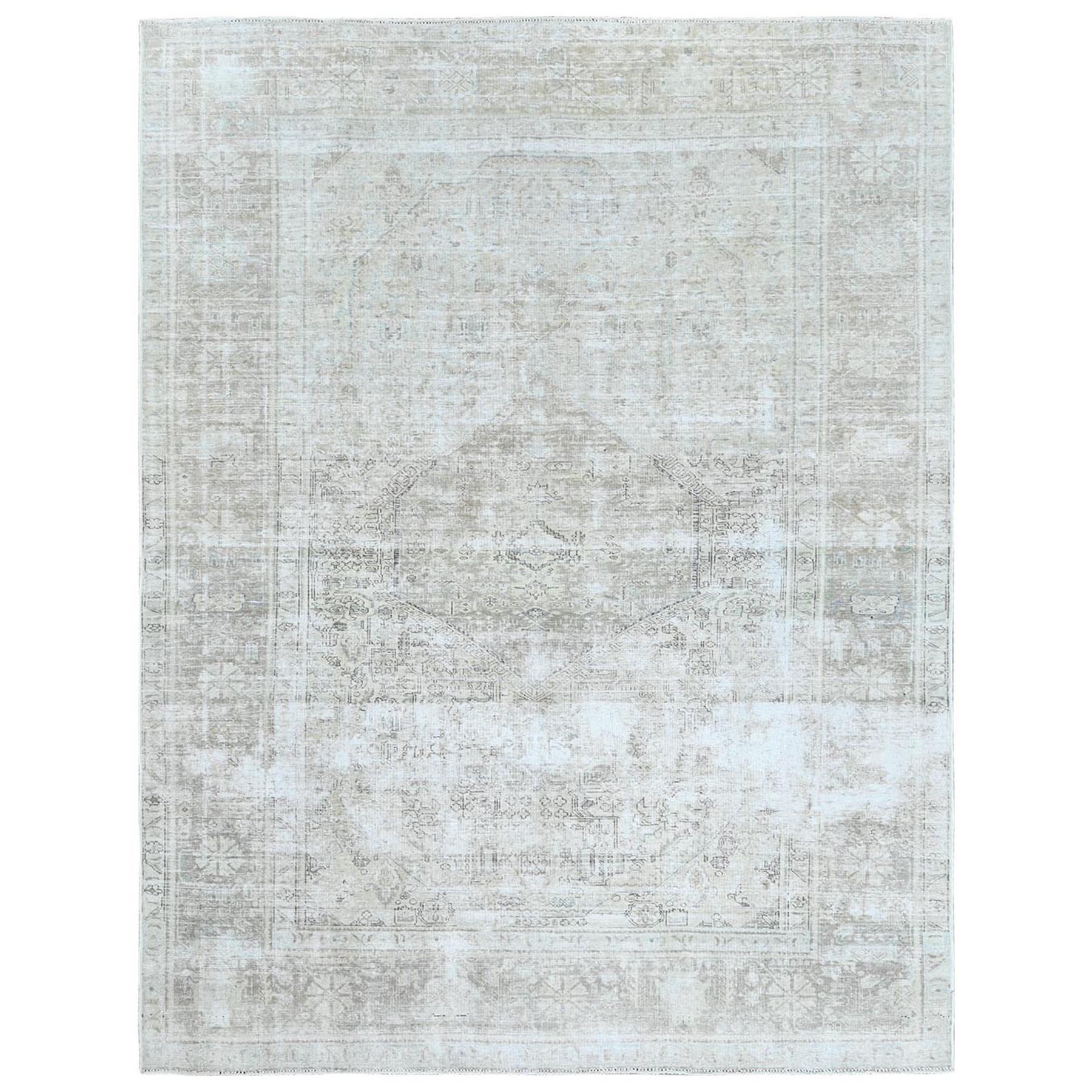 Fetneh Collection And Vintage Overdyed Collection Hand Knotted Ivory Rug No: 1122476