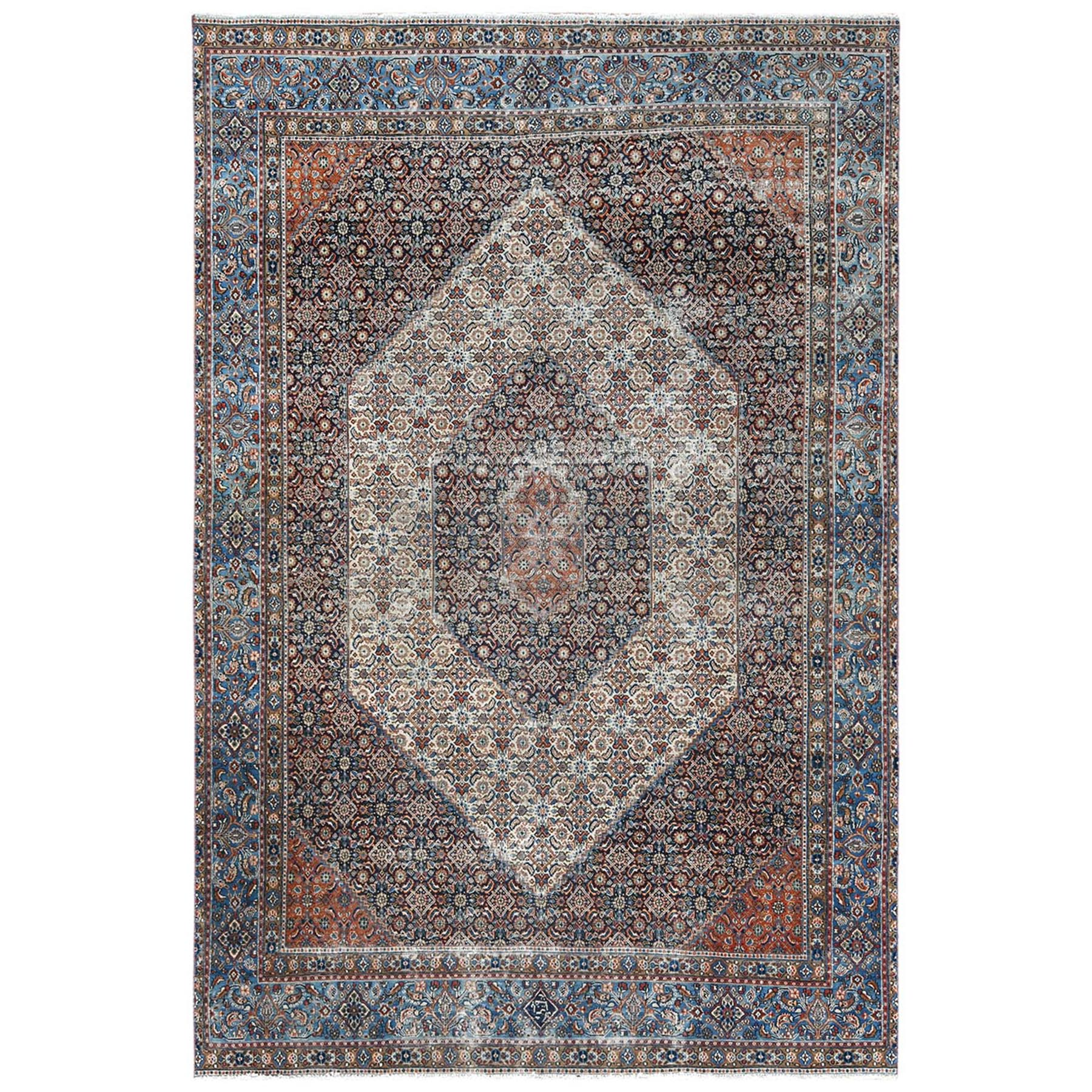Fetneh Collection And Vintage Overdyed Collection Hand Knotted Ivory Rug No: 1122496