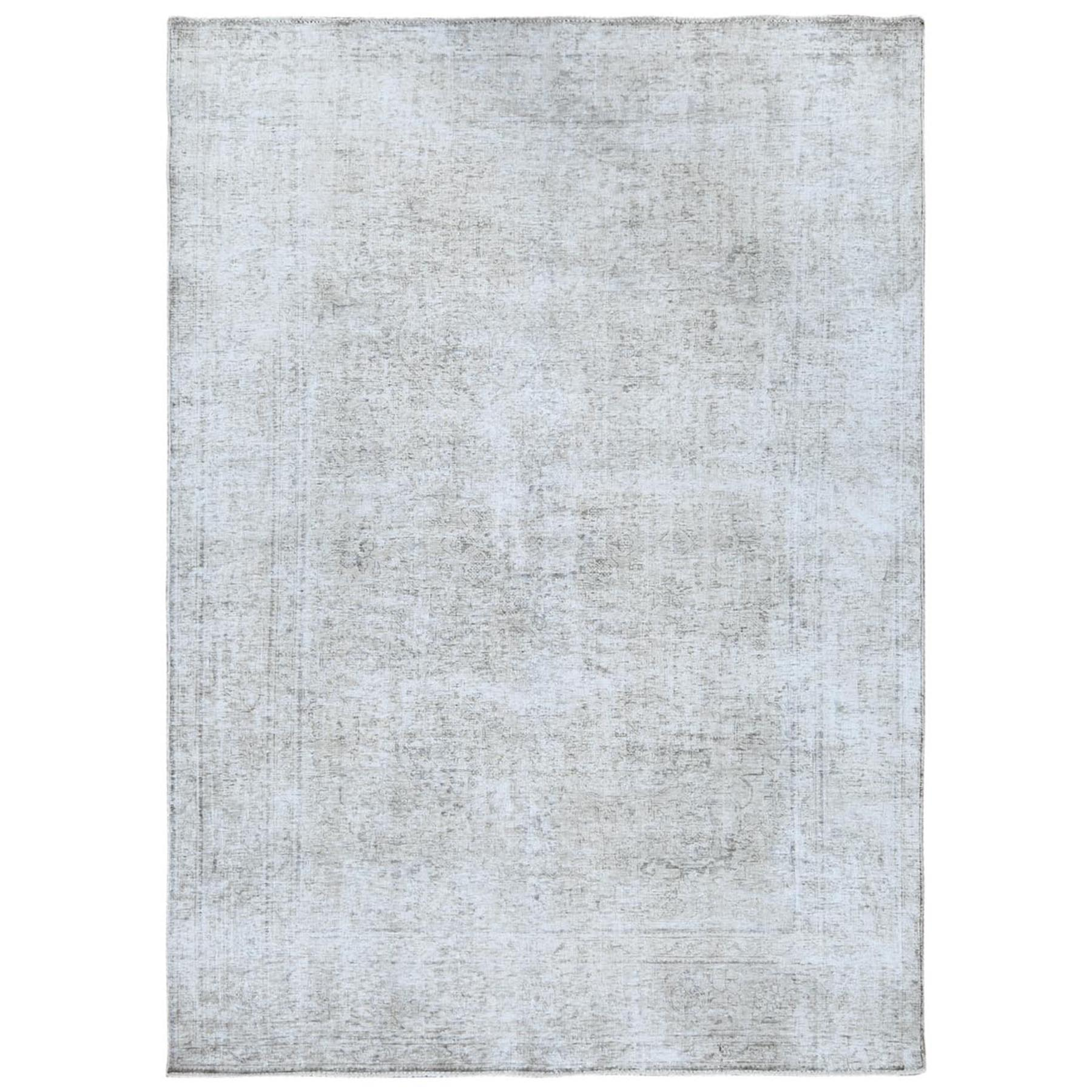 Fetneh Collection And Vintage Overdyed Collection Hand Knotted Grey Rug No: 1122498