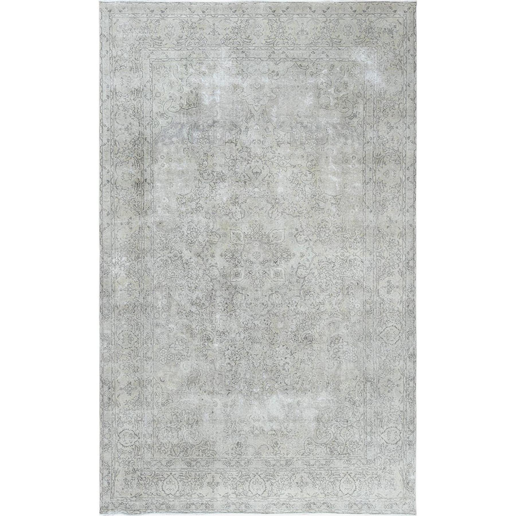 Fetneh Collection And Vintage Overdyed Collection Hand Knotted Beige Rug No: 1122594
