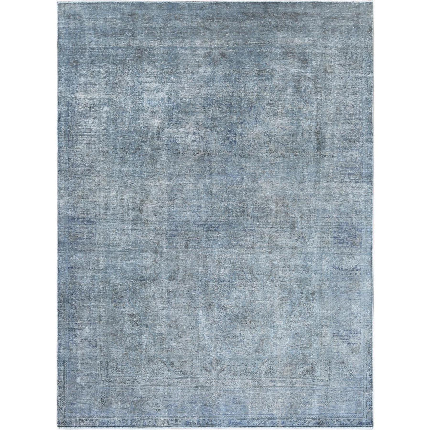 Fetneh Collection And Vintage Overdyed Collection Hand Knotted Grey Rug No: 1122624