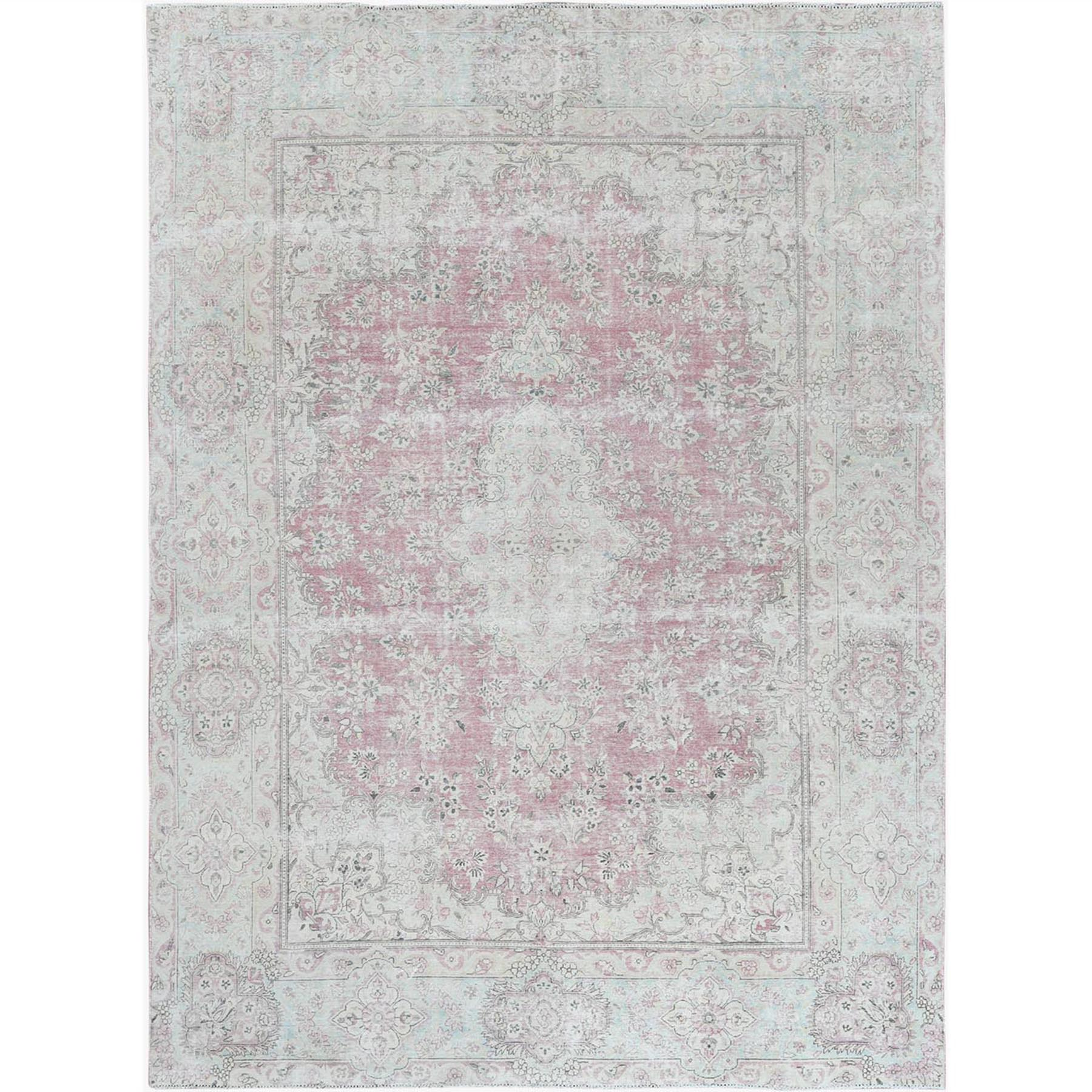 Fetneh Collection And Vintage Overdyed Collection Hand Knotted Pink Rug No: 1122646