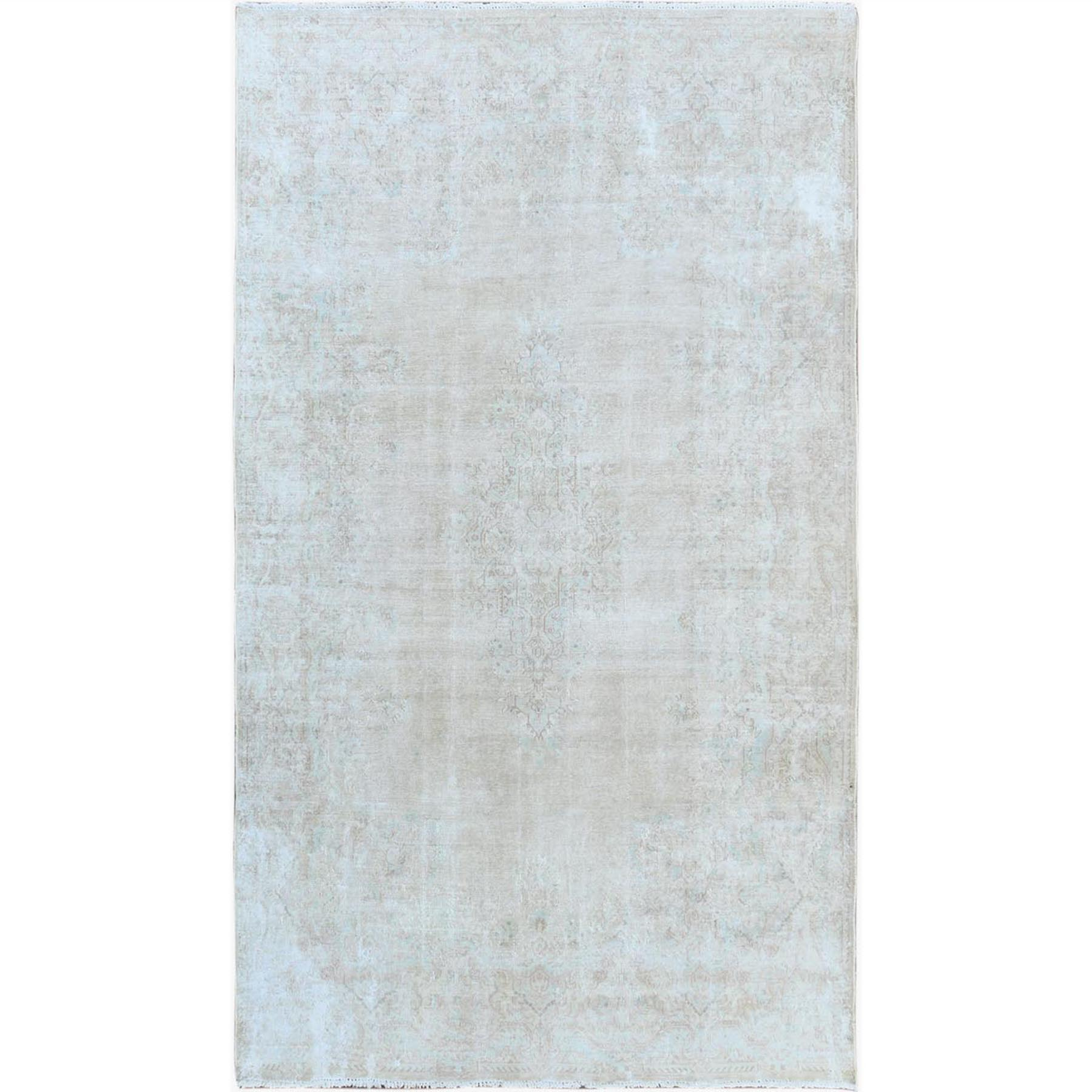 Fetneh Collection And Vintage Overdyed Collection Hand Knotted Ivory Rug No: 1122680