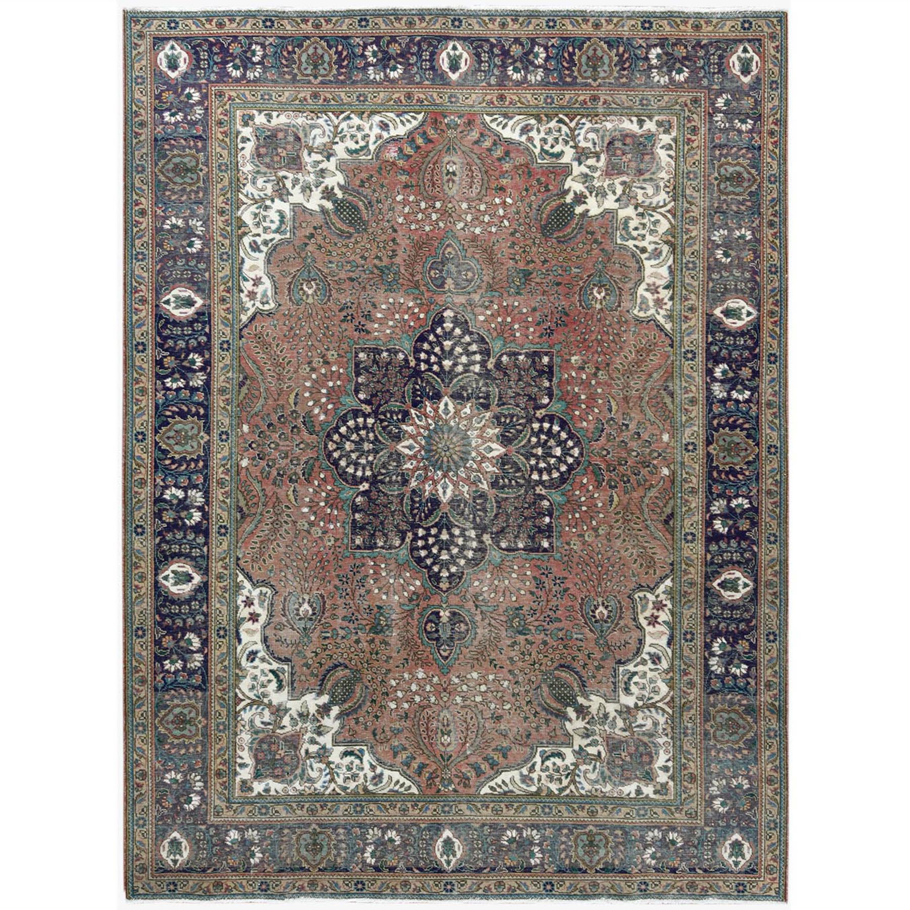 Fetneh Collection And Vintage Overdyed Collection Hand Knotted Pink Rug No: 1122794