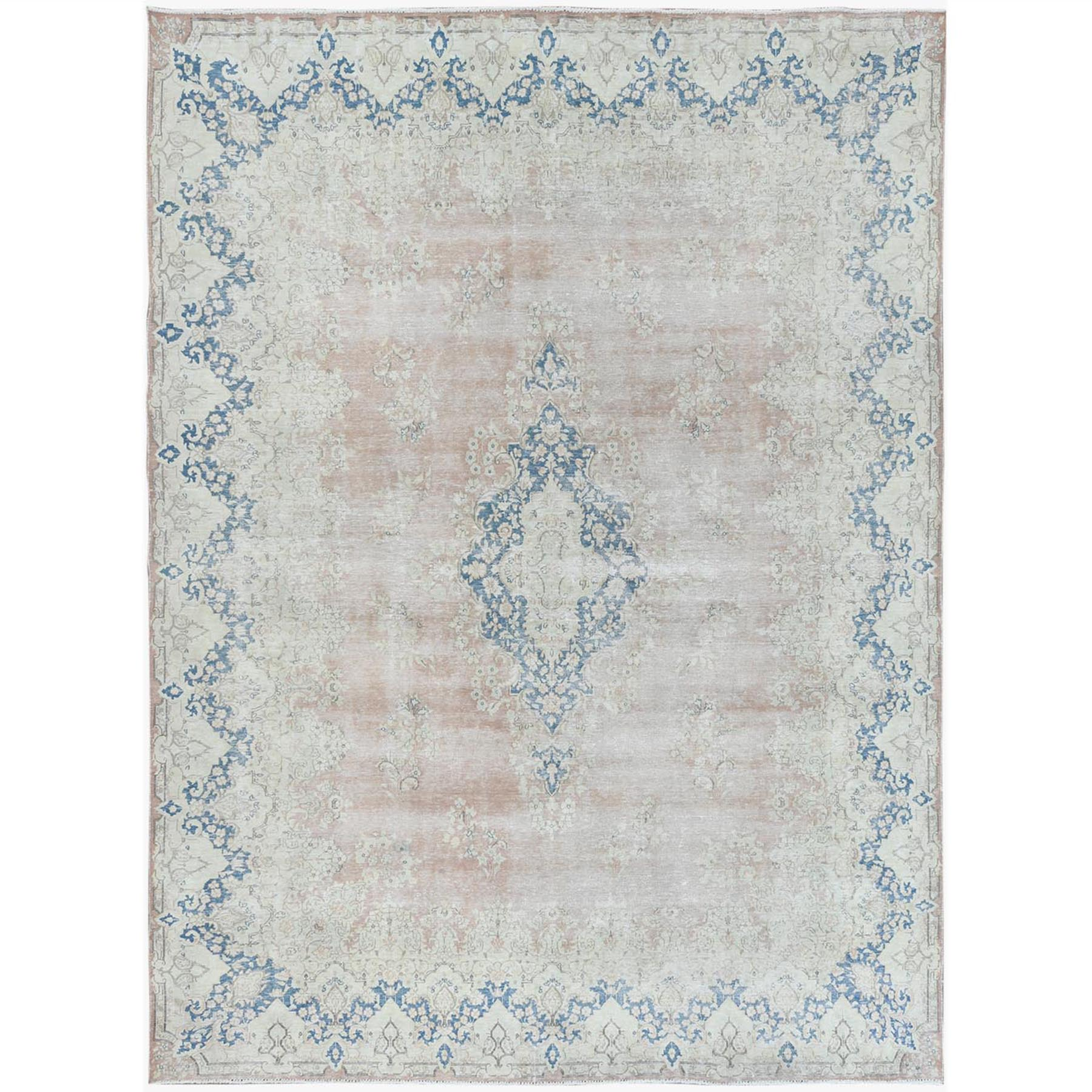 Fetneh Collection And Vintage Overdyed Collection Hand Knotted Beige Rug No: 1122816