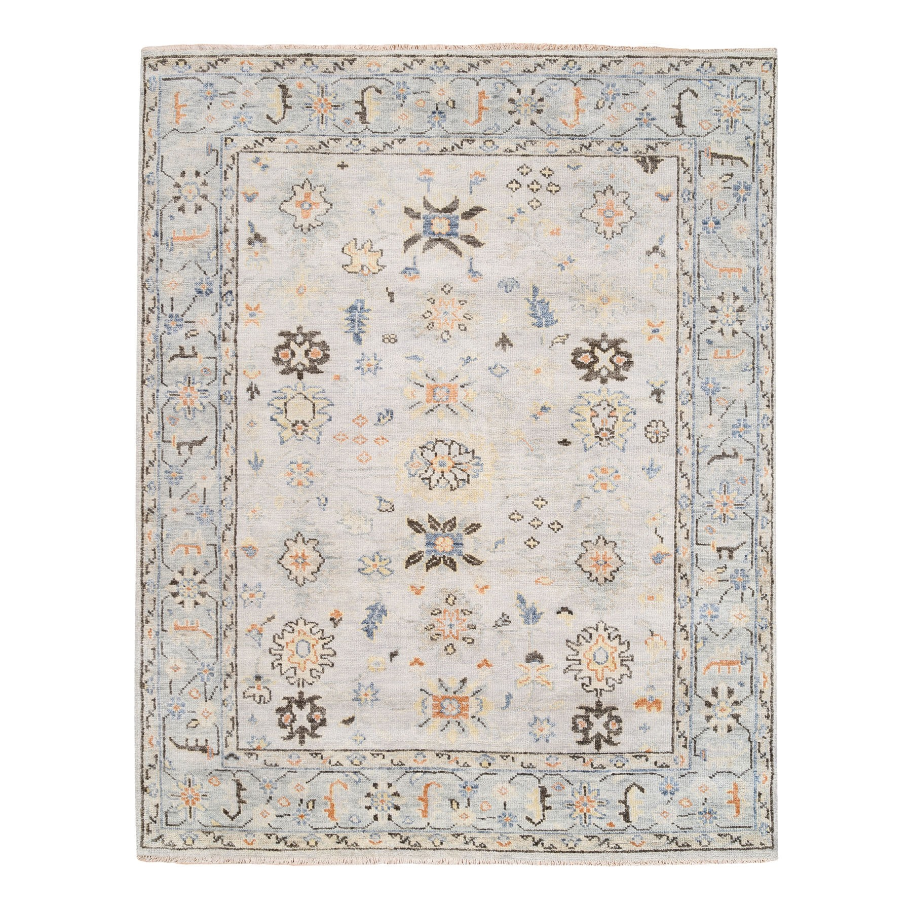 "8'2""x10' Ivory Natural Wool Supple Collection Oushak Design Hand Knotted Oriental Rug"