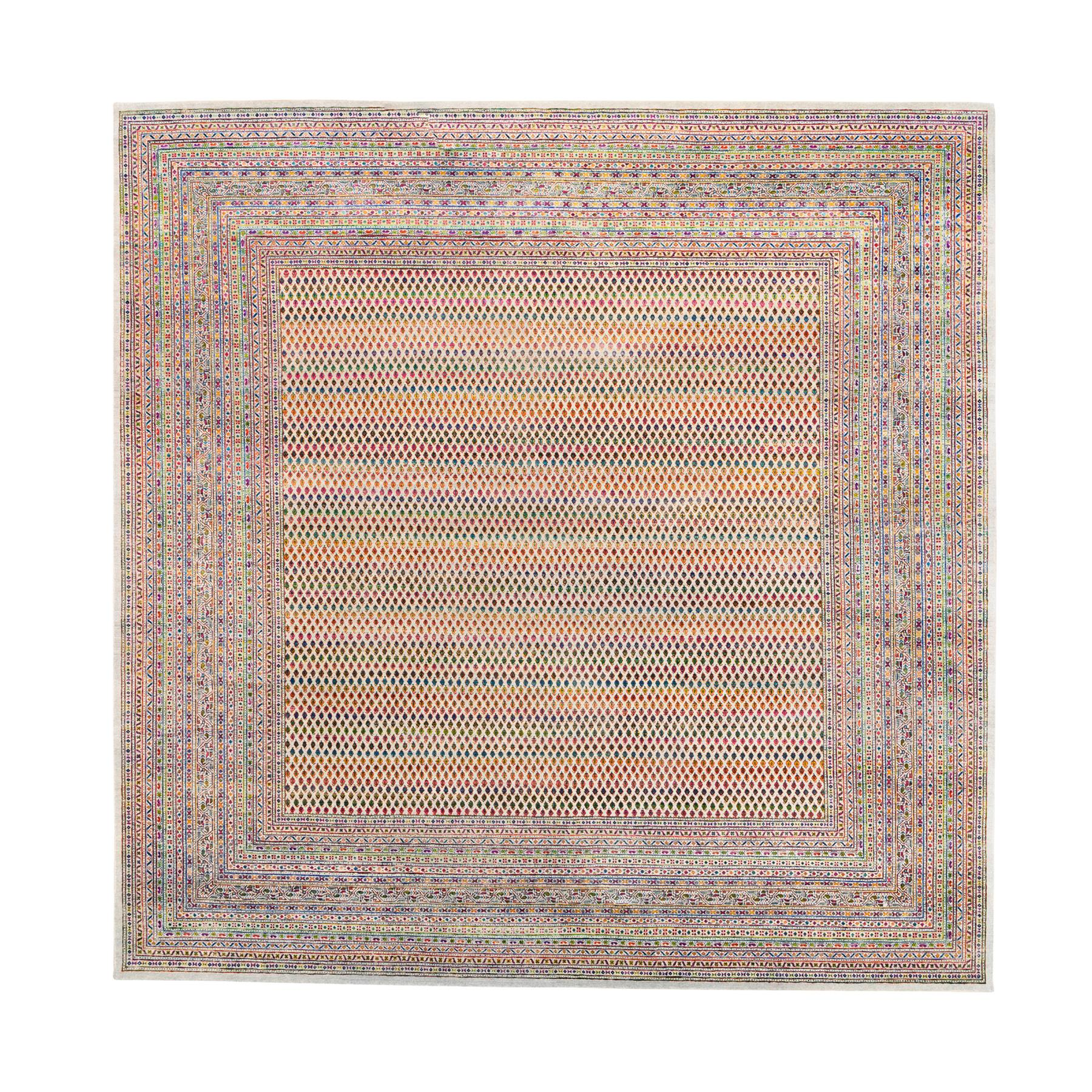Mid Century Modern Collection Hand Knotted Beige Rug No: 1124610