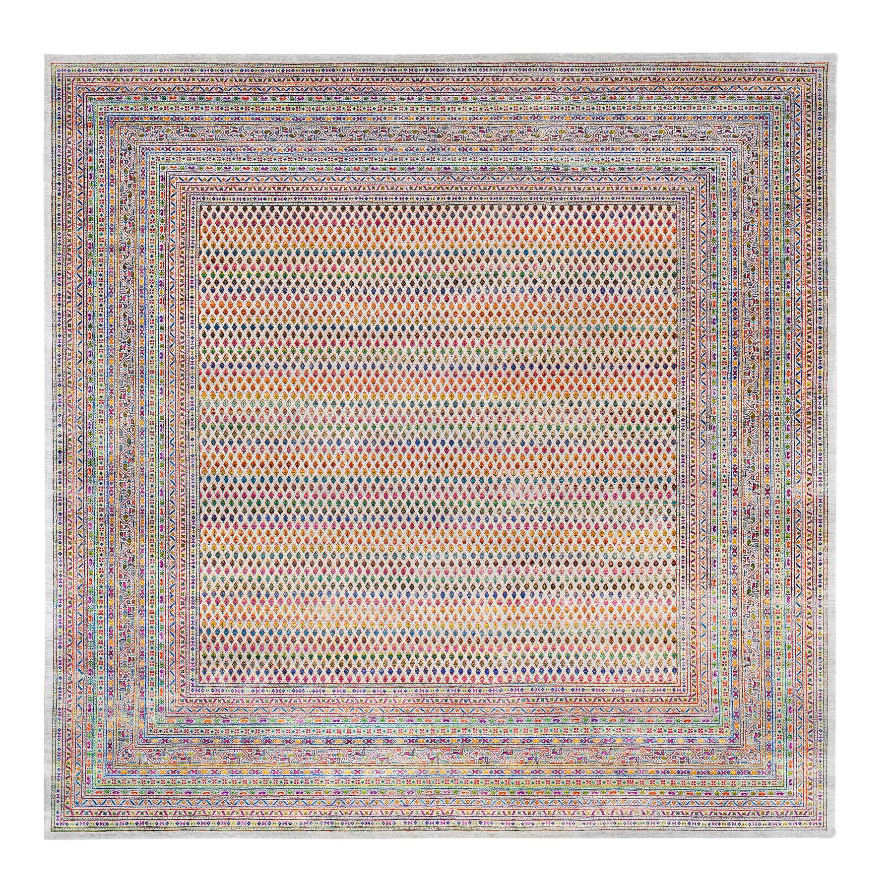 Mid Century Modern Collection Hand Knotted Beige Rug No: 1124622