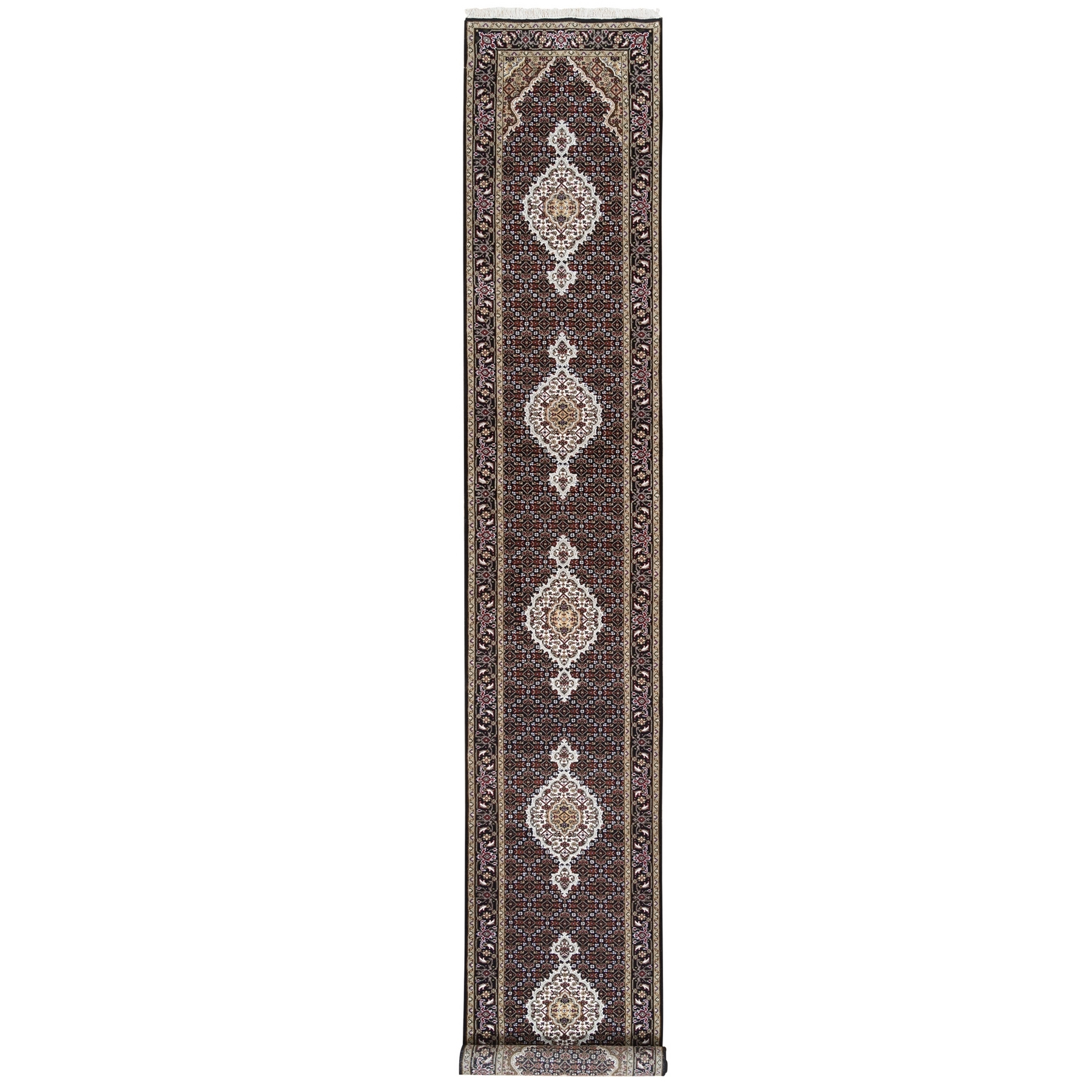 Pirniakan Collection Hand Knotted Black Rug No: 1125034