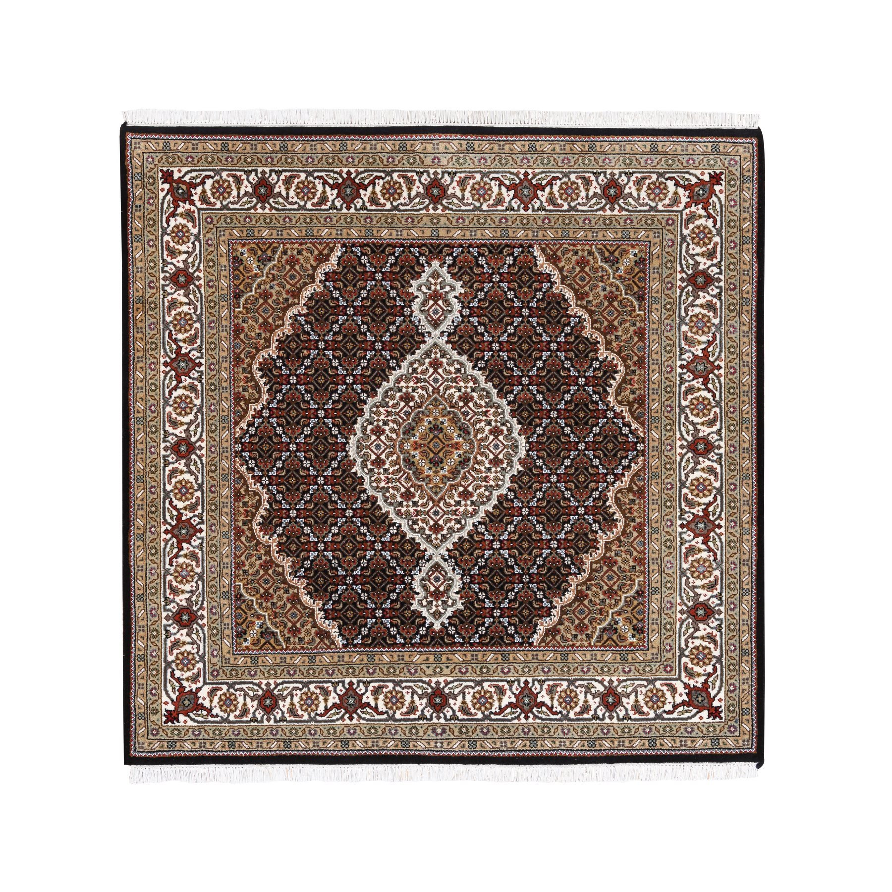 Pirniakan Collection Hand Knotted Black Rug No: 1125086