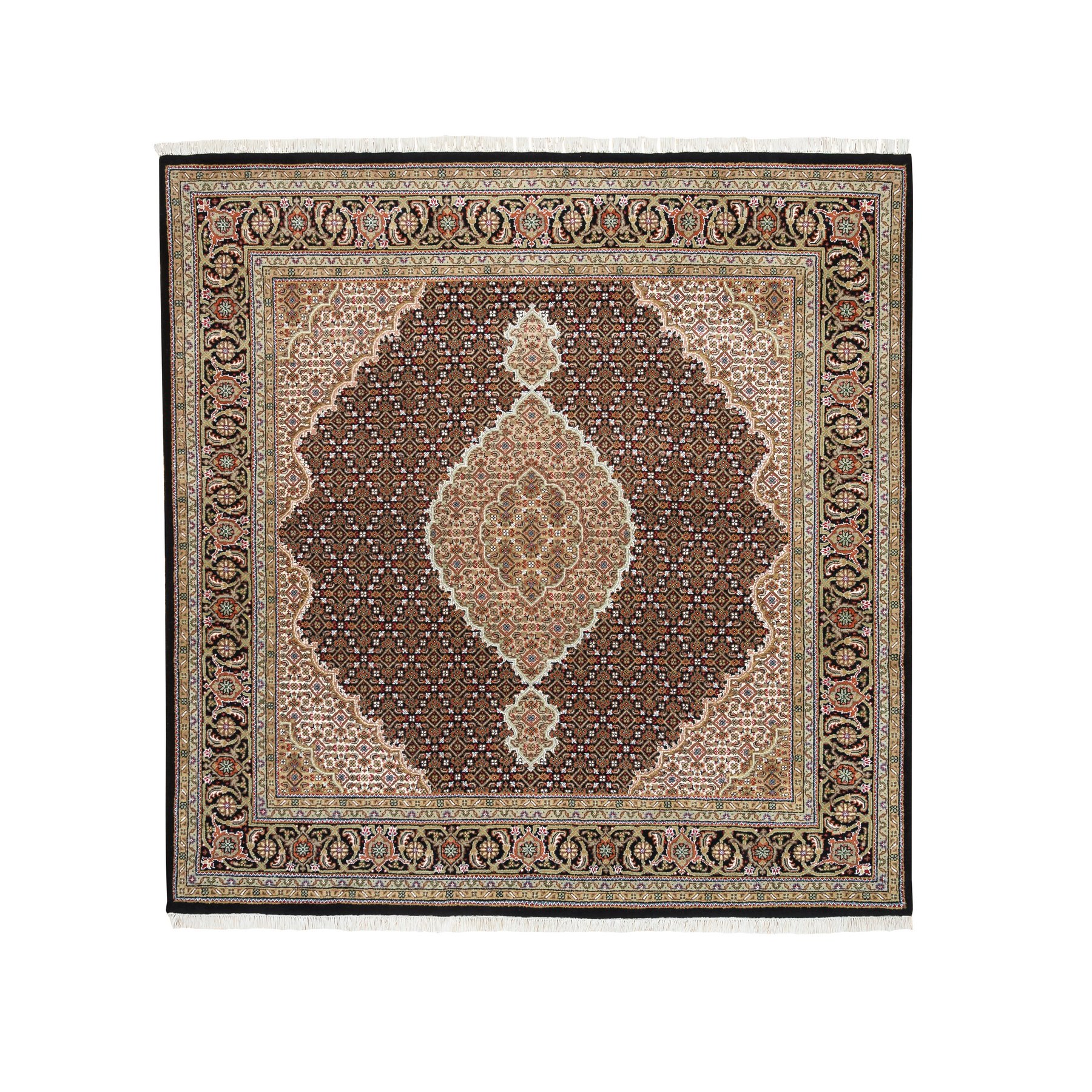 Pirniakan Collection Hand Knotted Black Rug No: 1125228