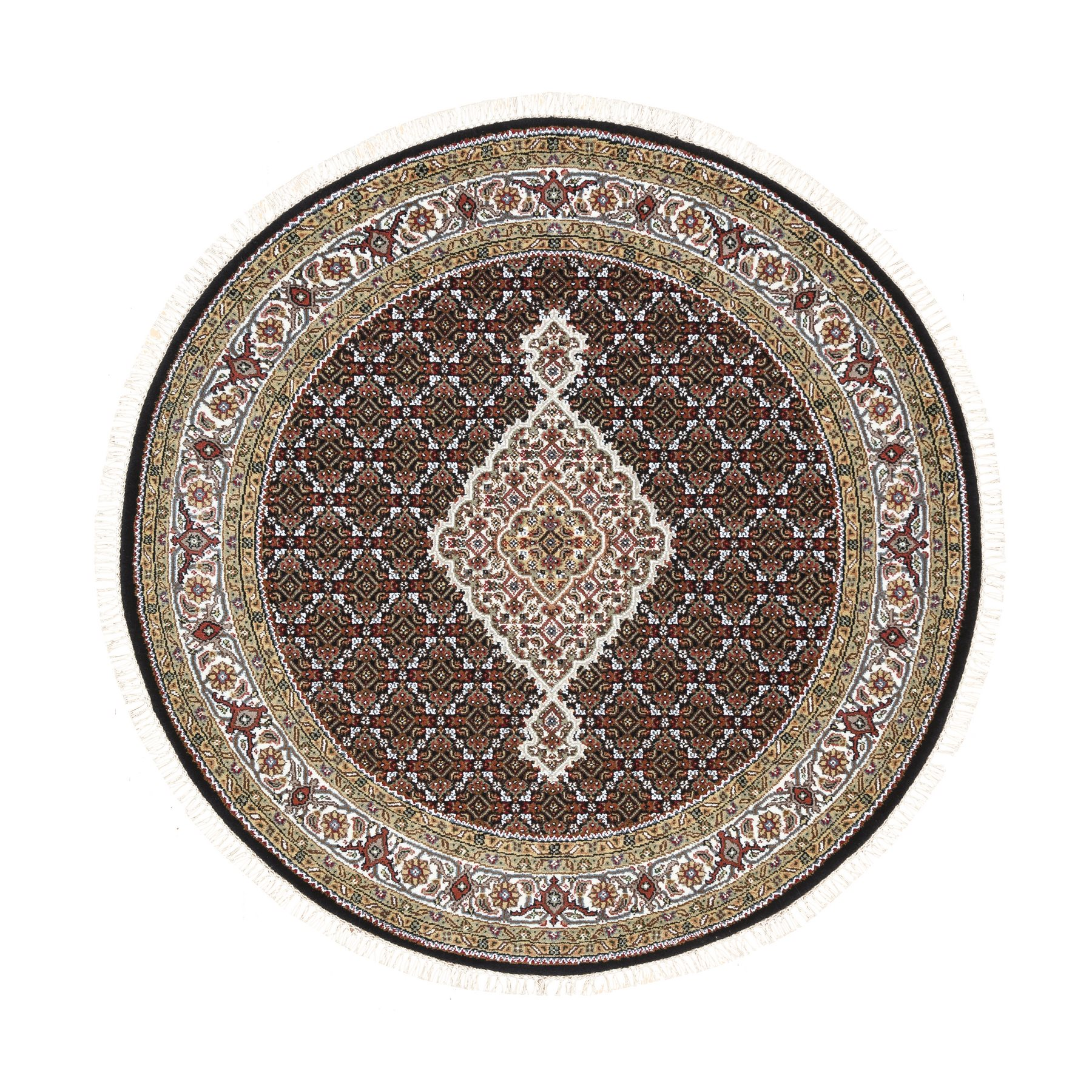 Pirniakan Collection Hand Knotted Black Rug No: 1125232
