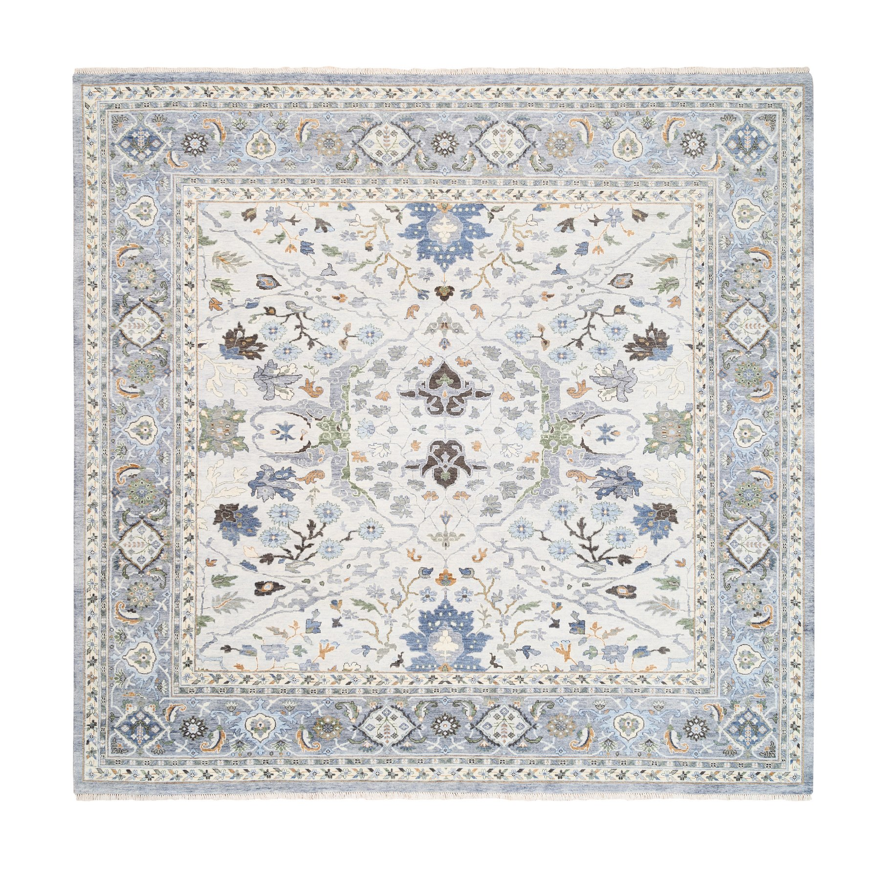 Agra And Turkish Collection Hand Knotted Grey Rug No: 1125348