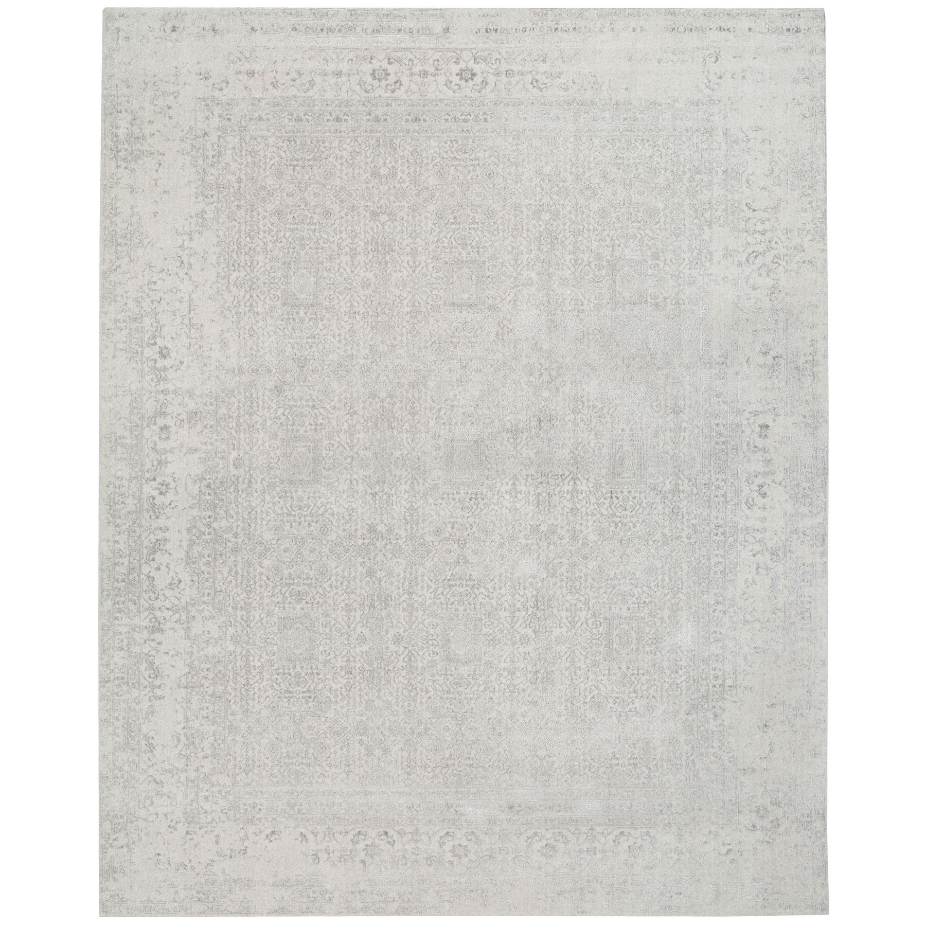 Mid Century Modern Collection Hand Loomed Beige Rug No: 1125672