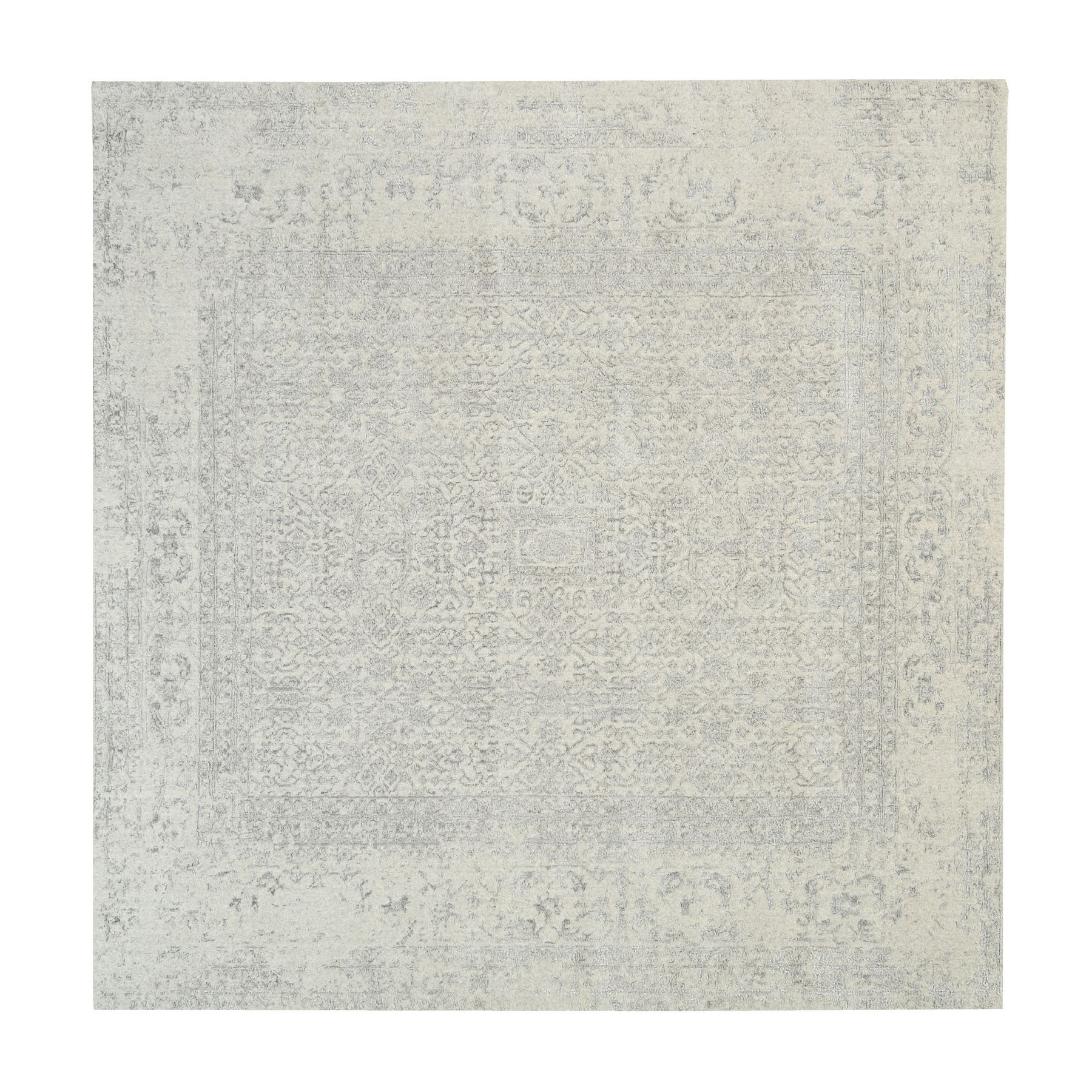 Mid Century Modern Collection Hand Loomed Beige Rug No: 1125734